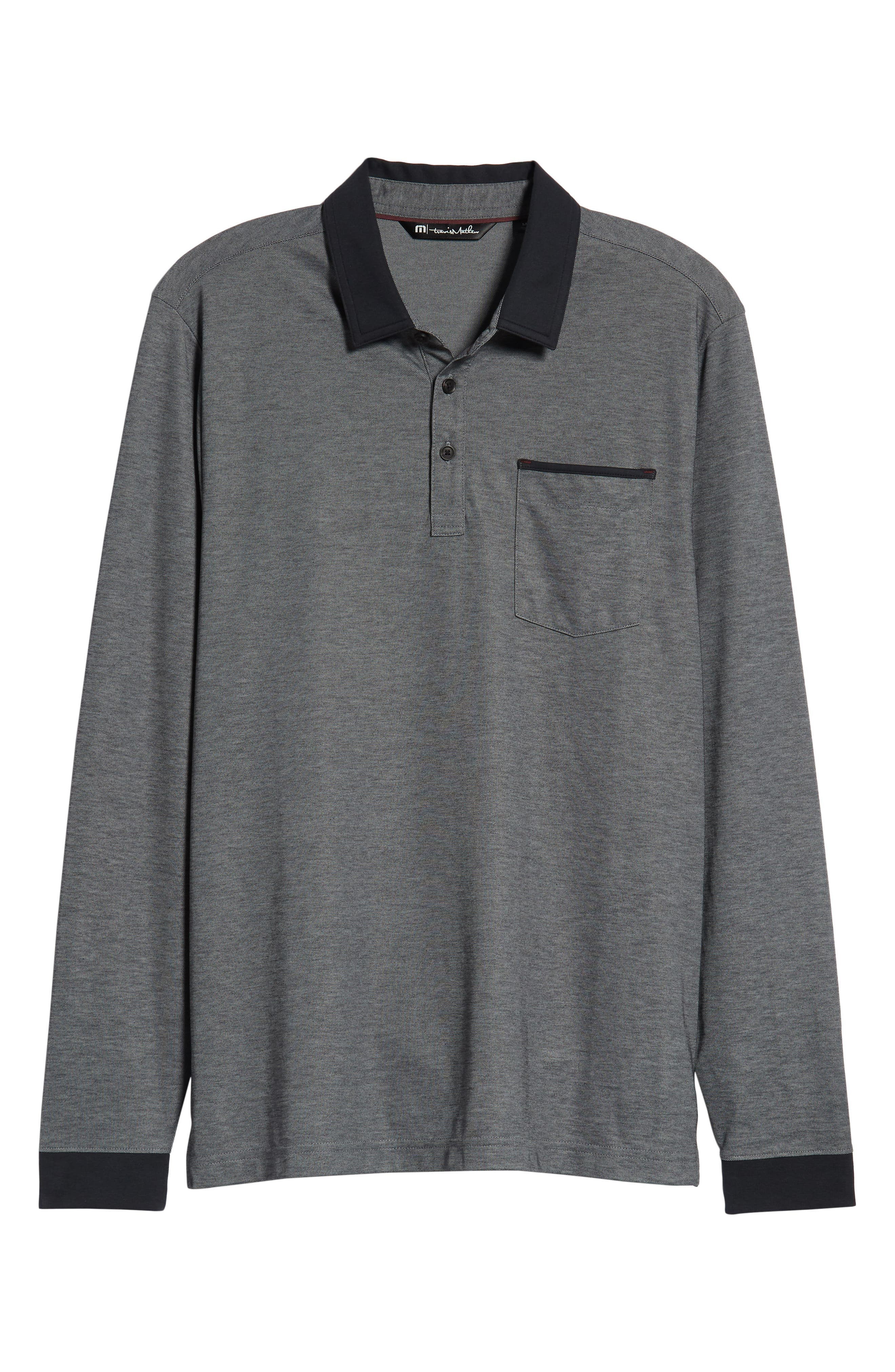 Kay Regular Fit Long Sleeve Polo Shirt,                             Alternate thumbnail 6, color,                             HEATHER CASTLEROCK