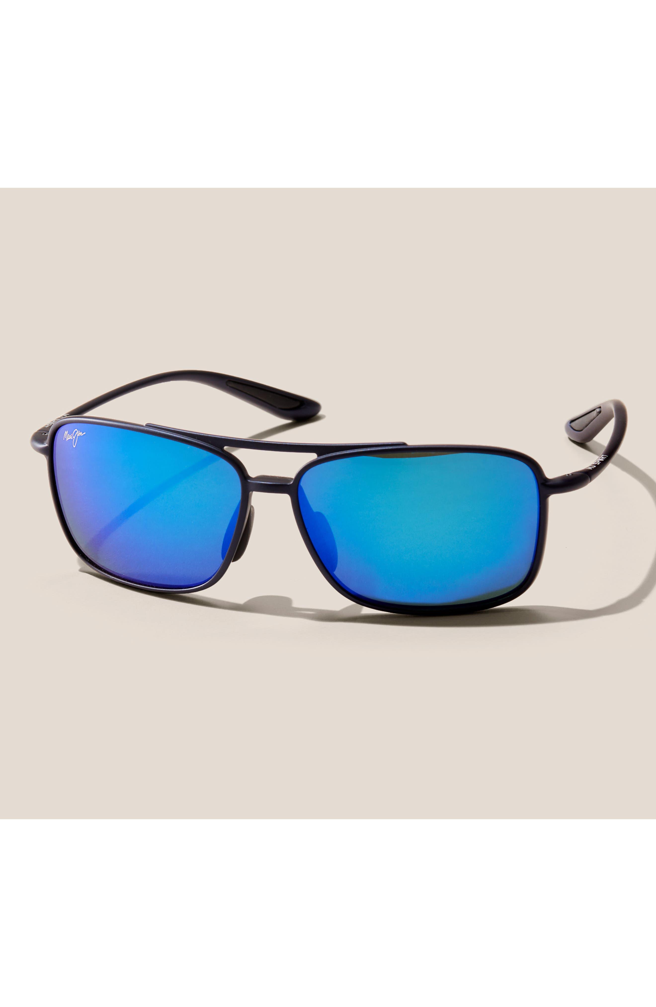 MAUI JIM,                             Kaupo Gap 61mm PolarizedPlus2<sup>®</sup> Sunglasses,                             Alternate thumbnail 3, color,                             GLOSS BLACK/ NEUTRAL GREY