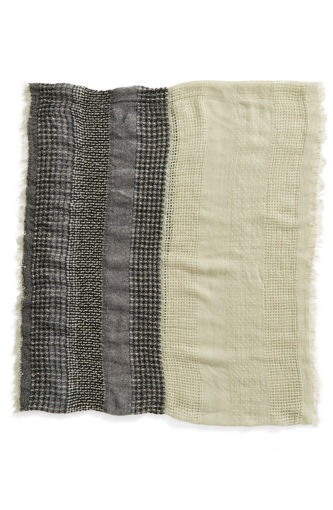 Stripe Open Weave Infinity Scarf,                             Alternate thumbnail 2, color,                             030