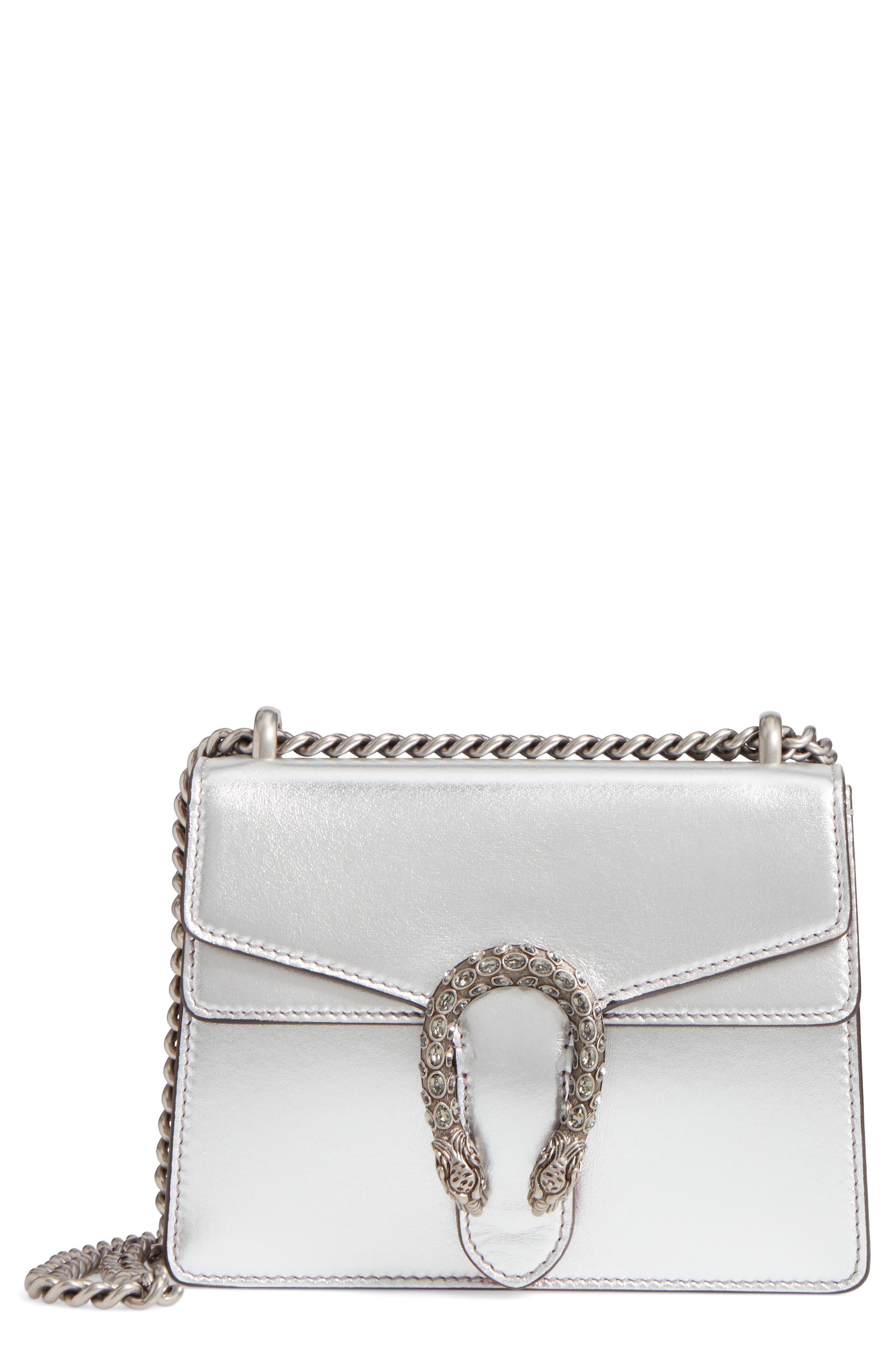 Mini Dionysus Metallic Leather Shoulder Bag,                         Main,                         color, 045