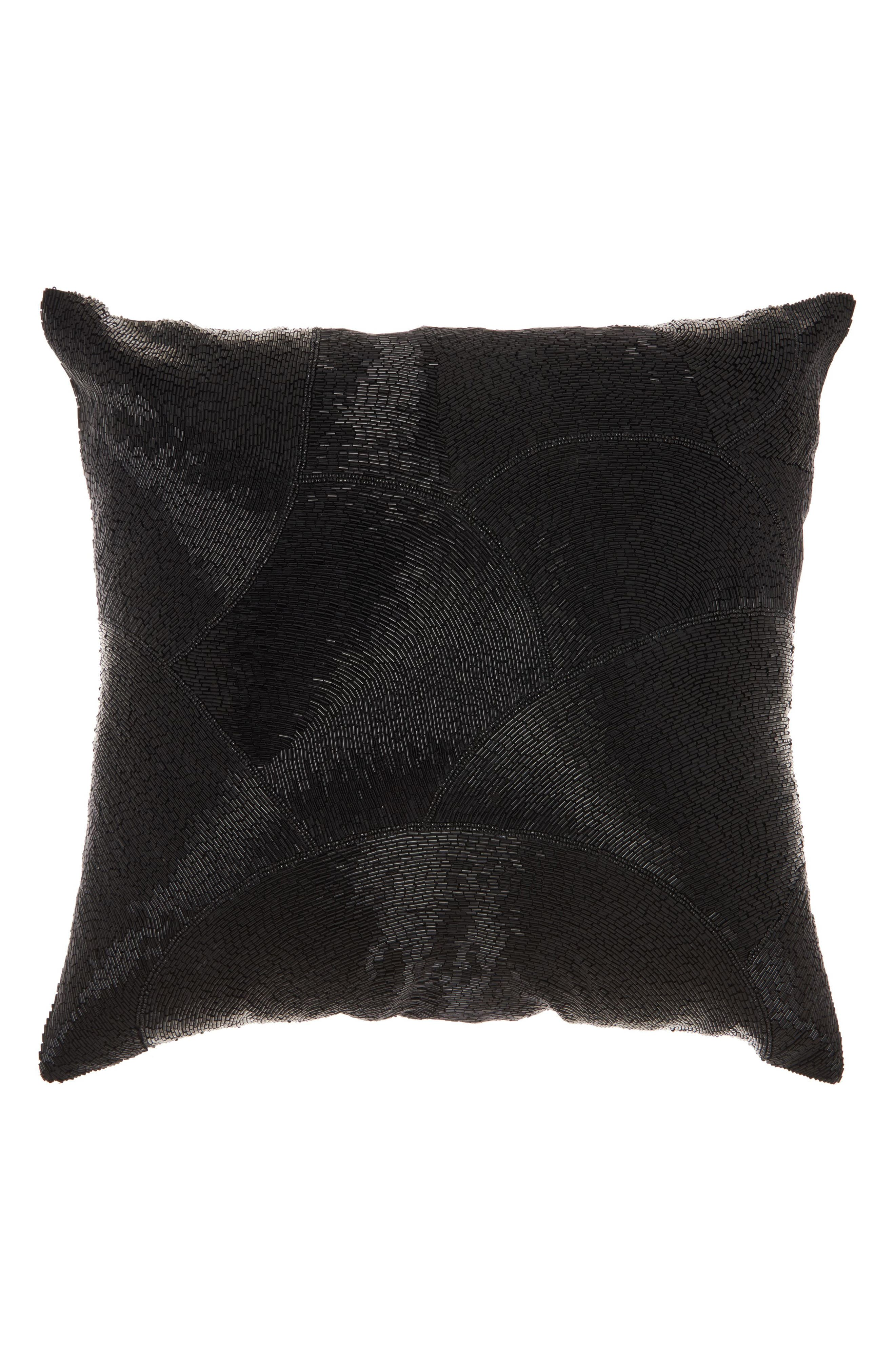 Beaded Fan Pillow,                             Main thumbnail 1, color,                             001