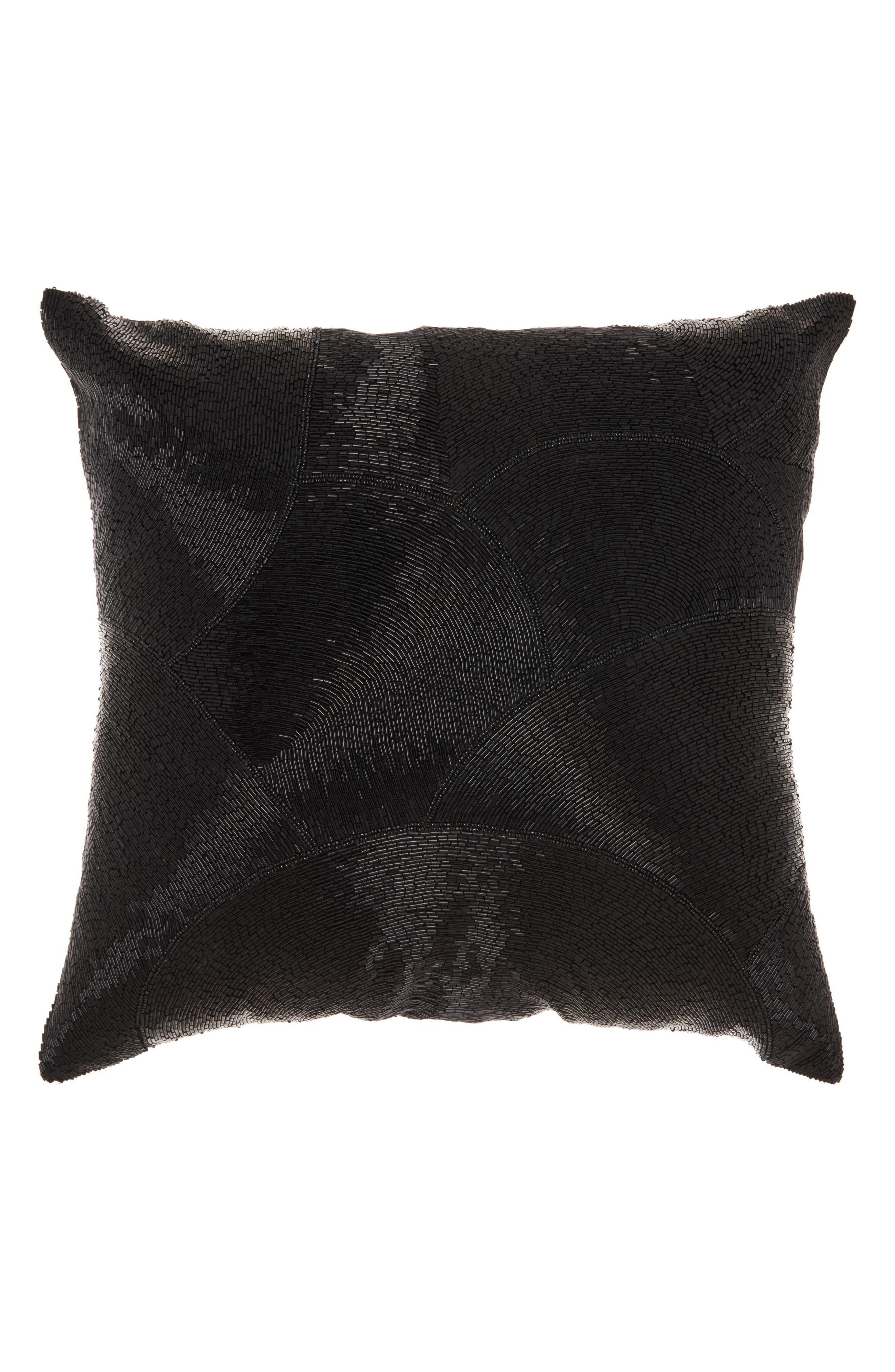 Beaded Fan Pillow,                         Main,                         color, 001