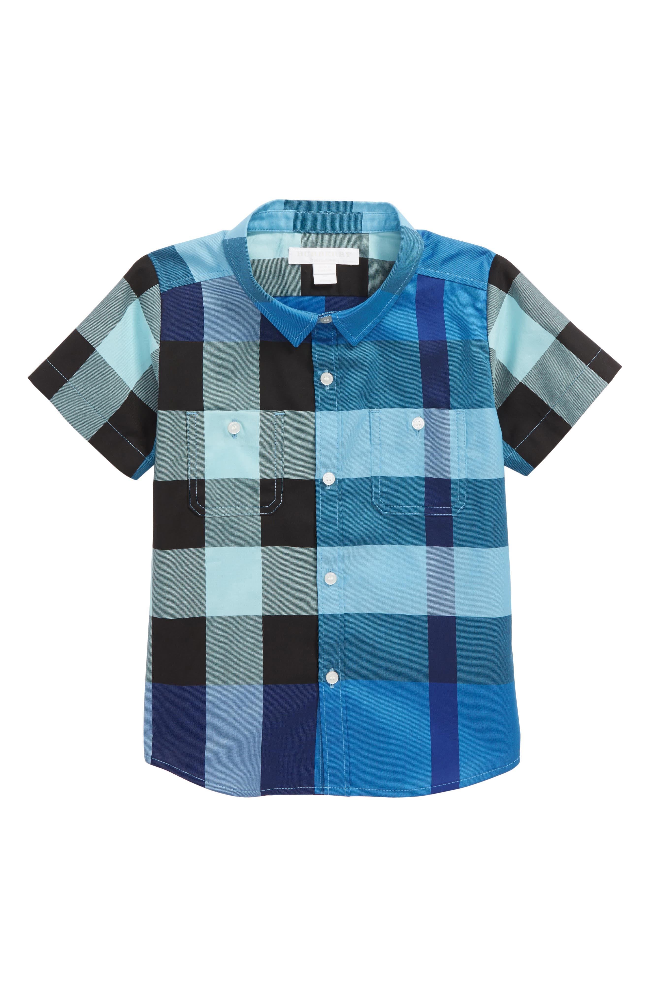 Mini Camber Check Shirt,                             Main thumbnail 2, color,