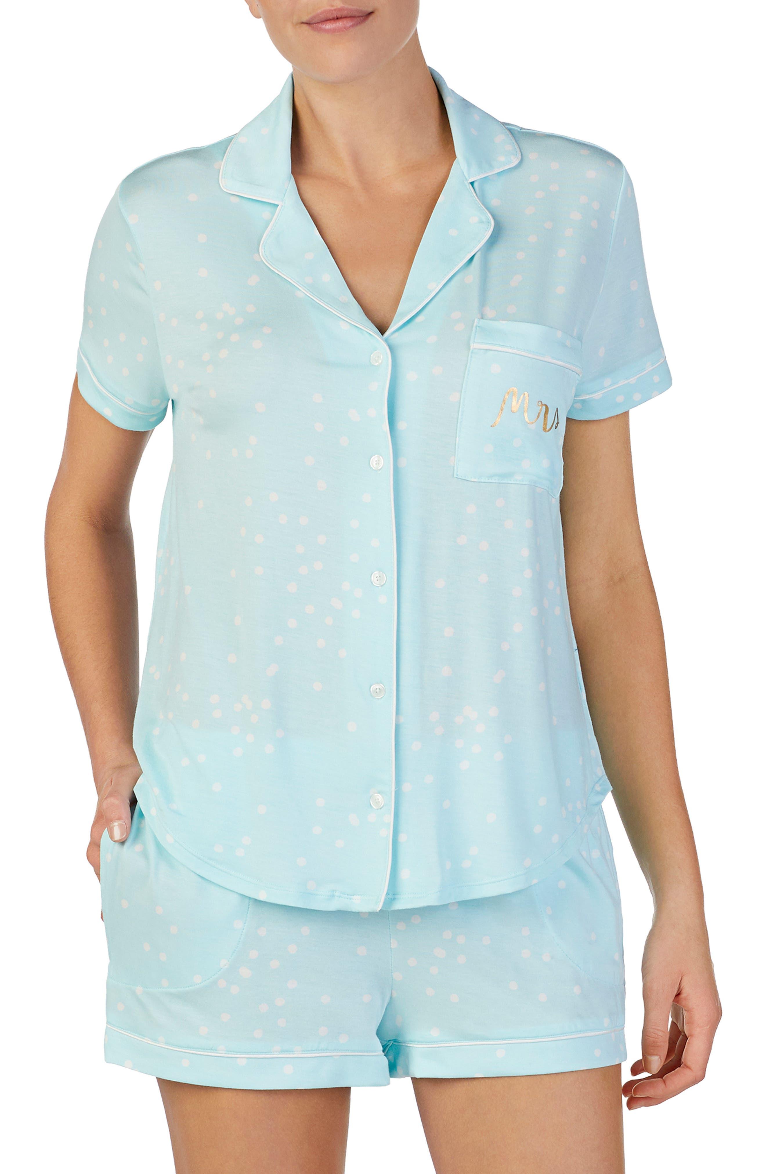 Kate Spade New York Short Pajamas, Blue