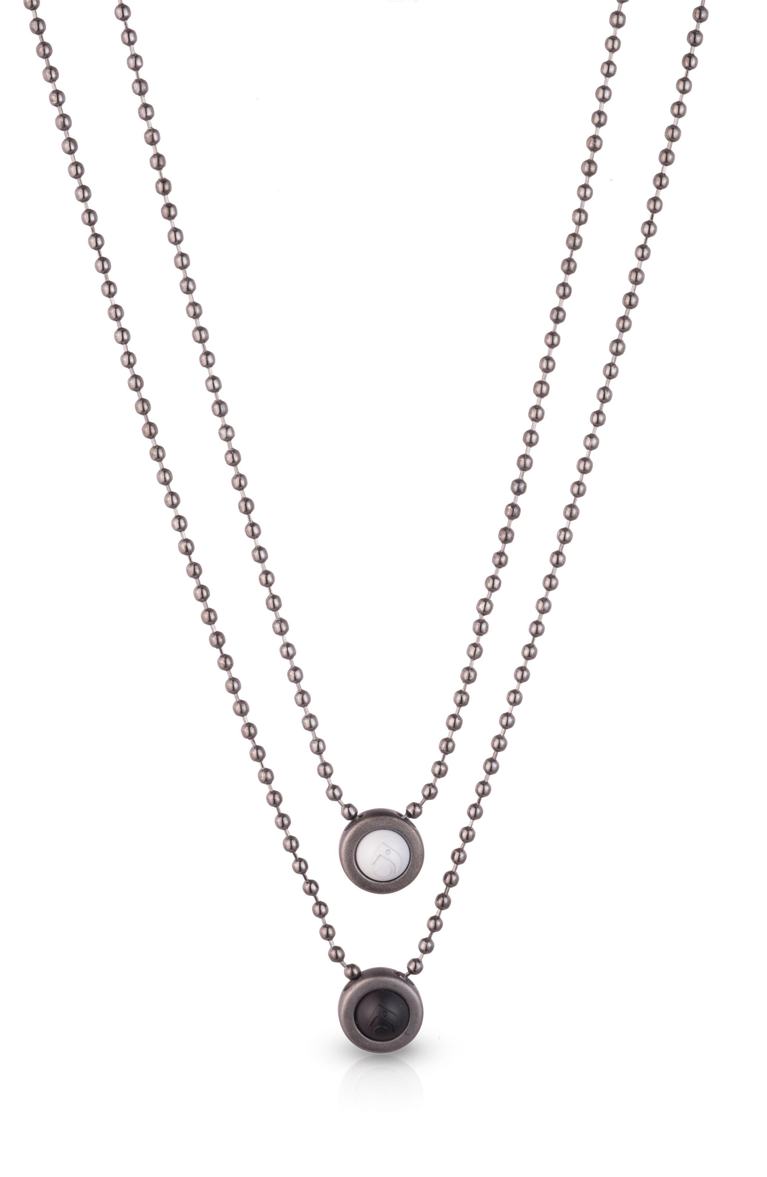 Double Ball Chain Pendant Necklace,                             Main thumbnail 1, color,