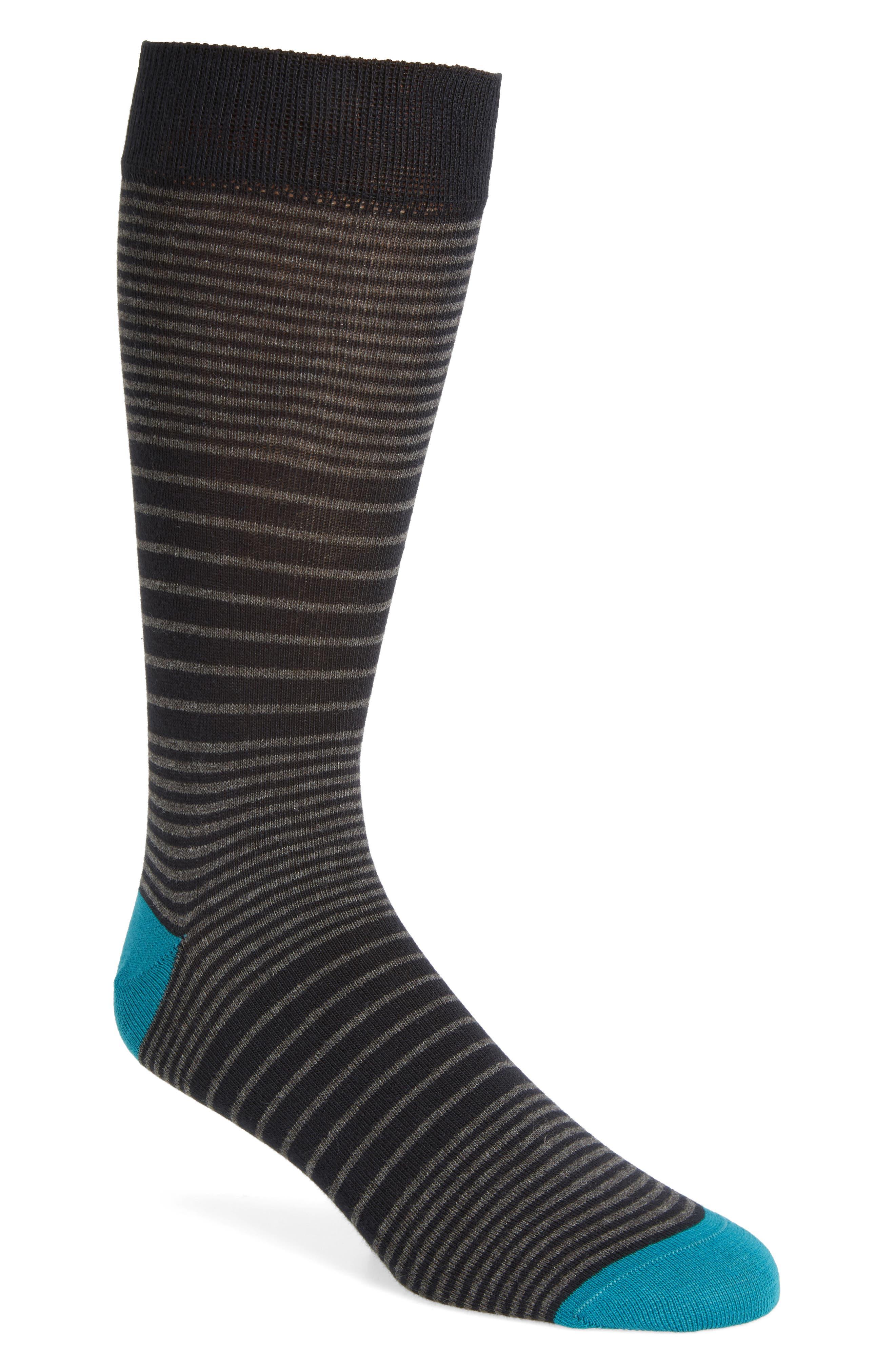 Multi Stripe Socks,                             Main thumbnail 1, color,                             030
