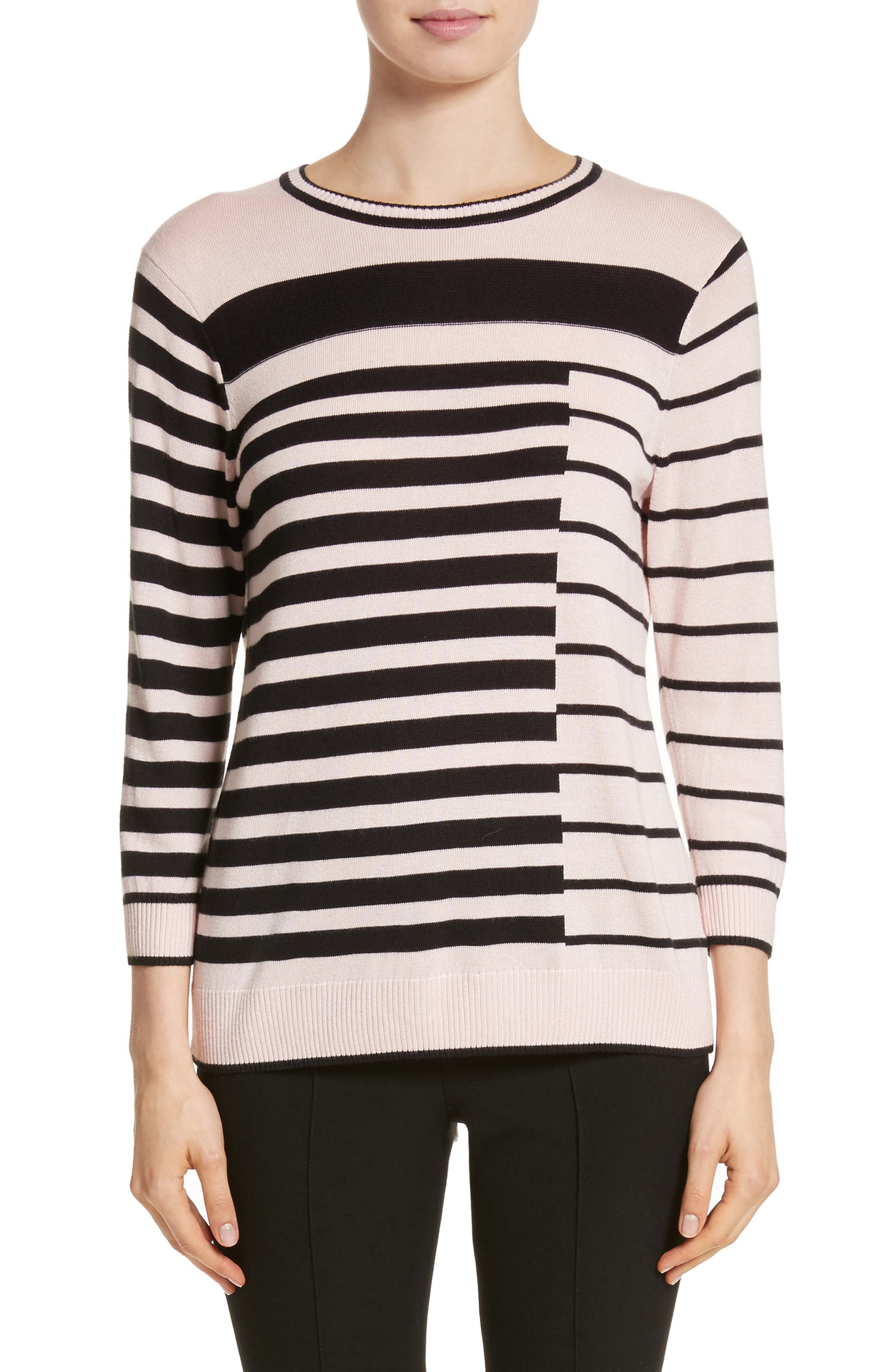 Intarsia Stripe Sweater,                             Main thumbnail 2, color,
