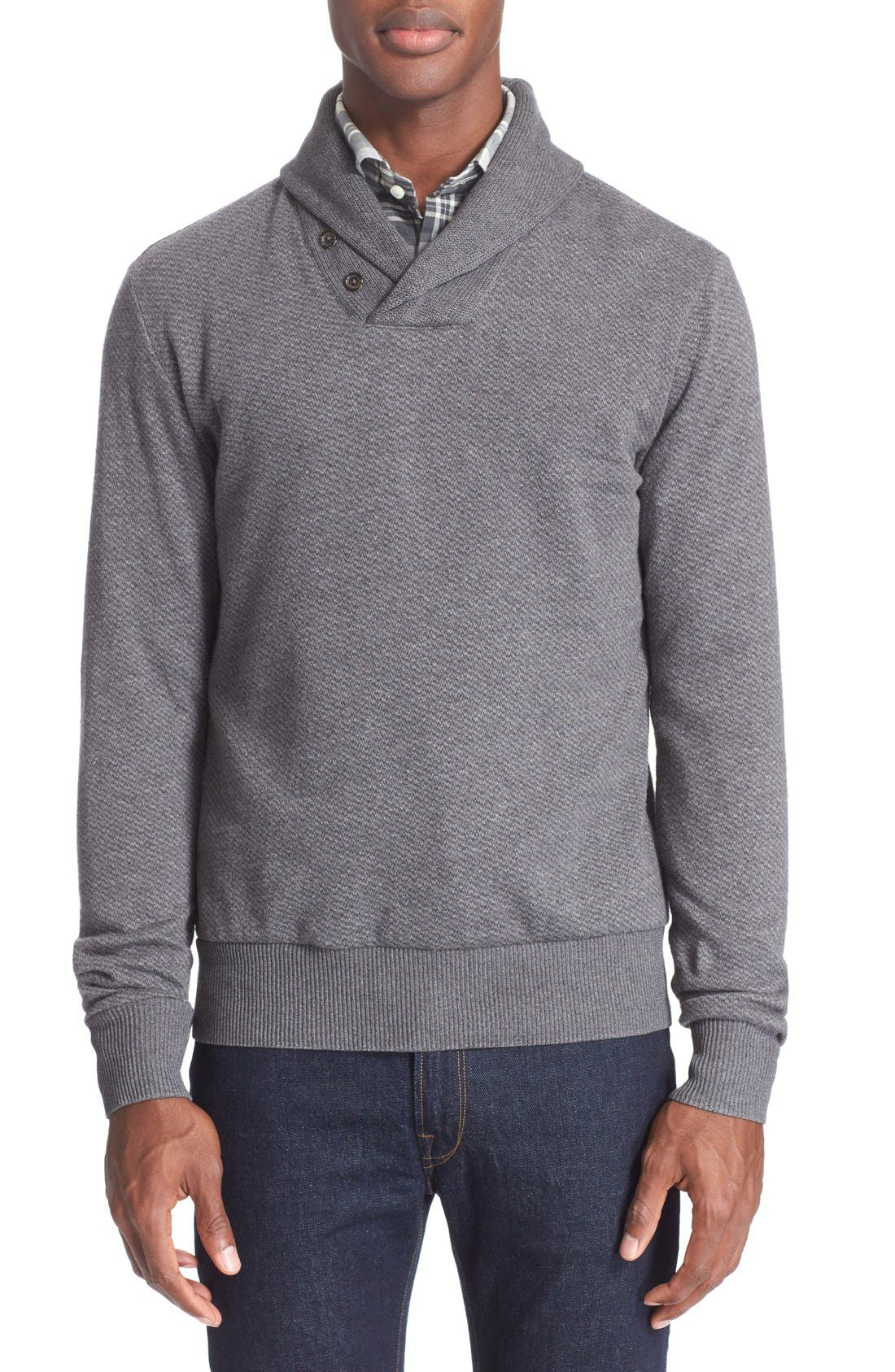 POLO RALPH LAUREN Shawl Collar Sweater, Main, color, 020