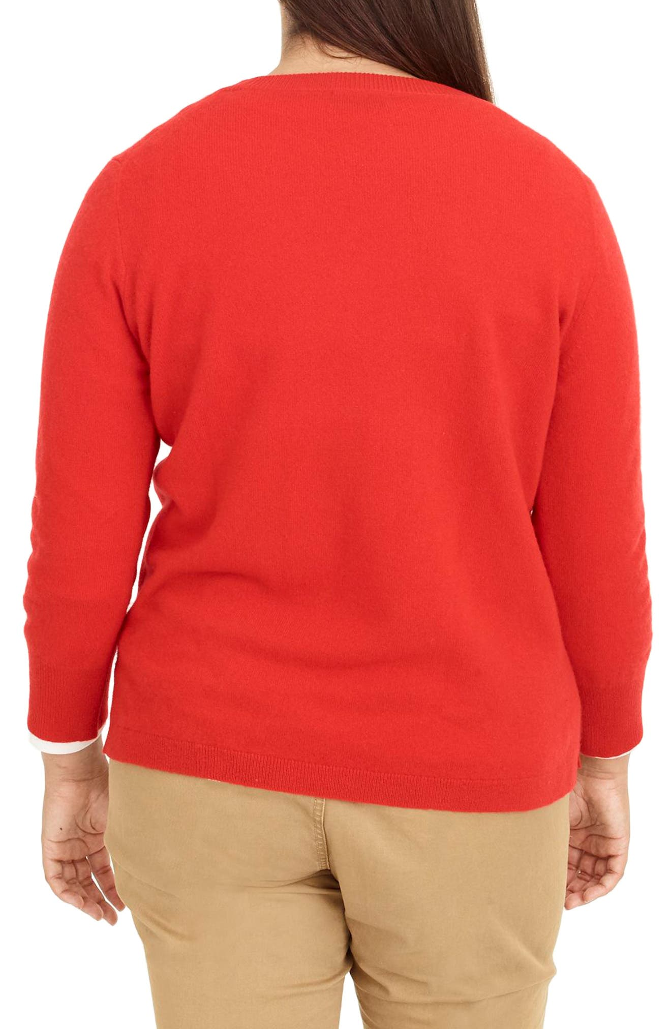 Leopard Heart Everyday Cashmere Sweater,                             Alternate thumbnail 7, color,                             600
