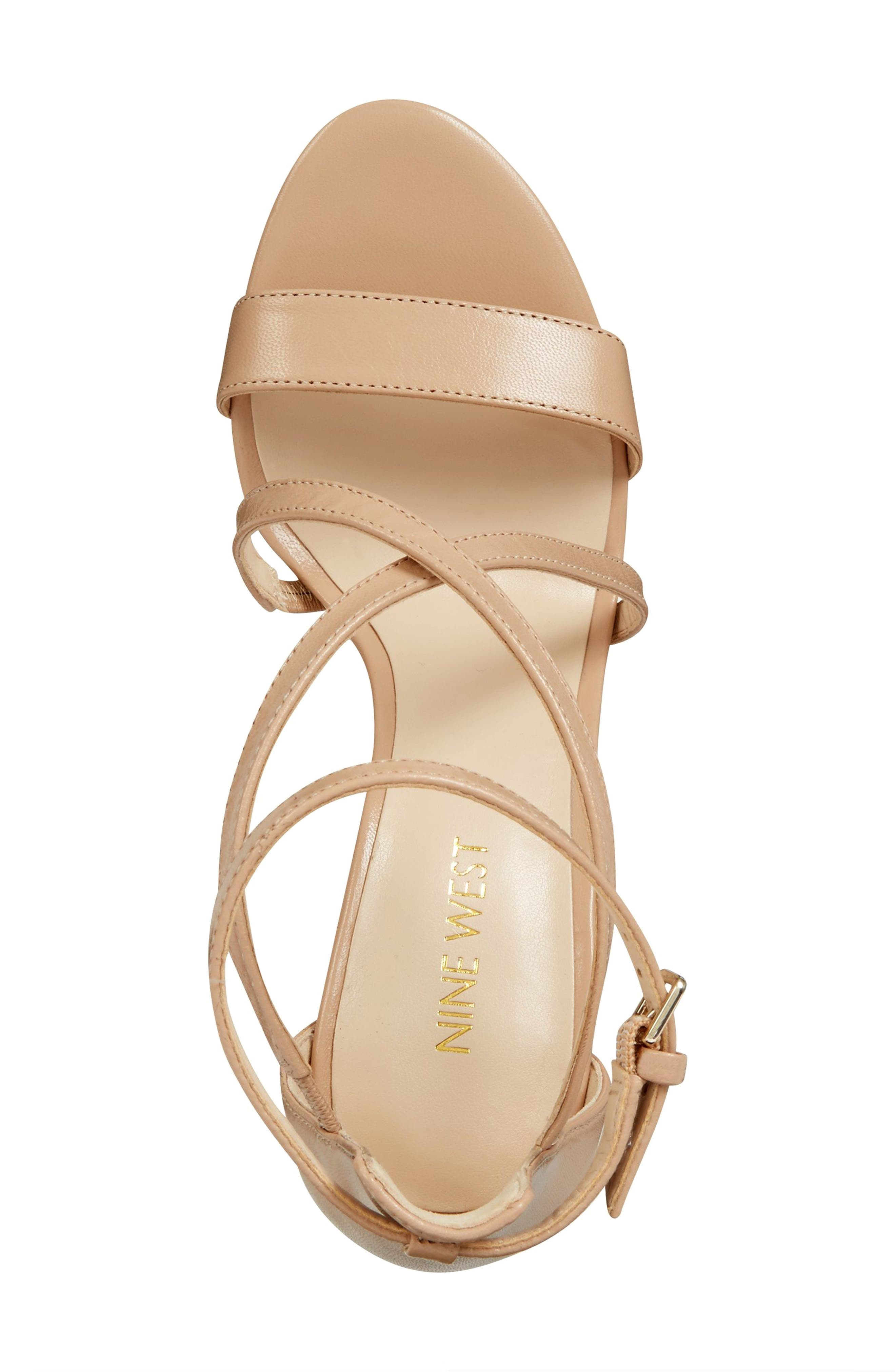 Retail Therapy Strappy Sandal,                             Alternate thumbnail 5, color,                             NATURAL LEATHER