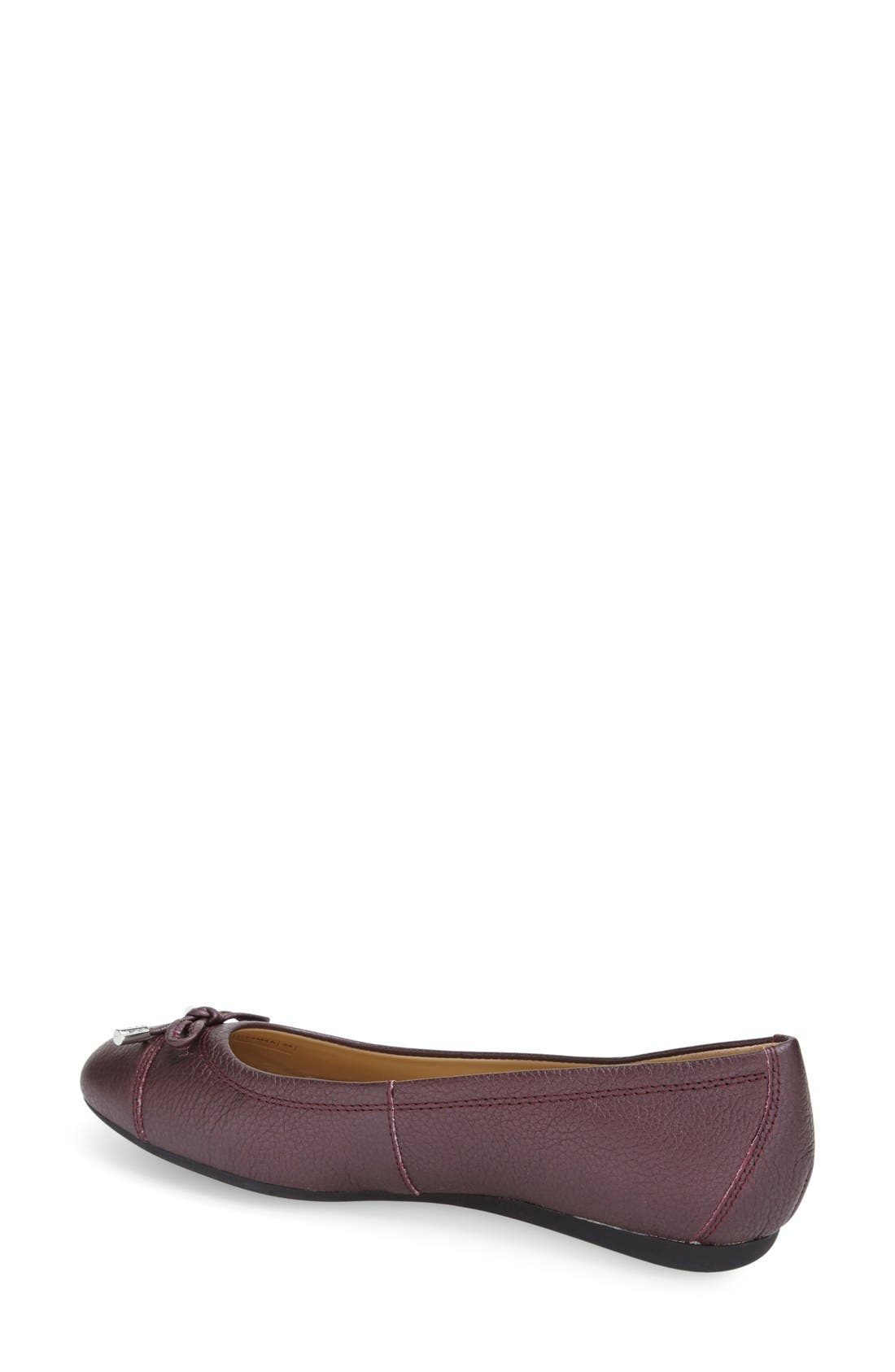 'Lola 16' Cap Toe Ballet Flat,                             Alternate thumbnail 8, color,
