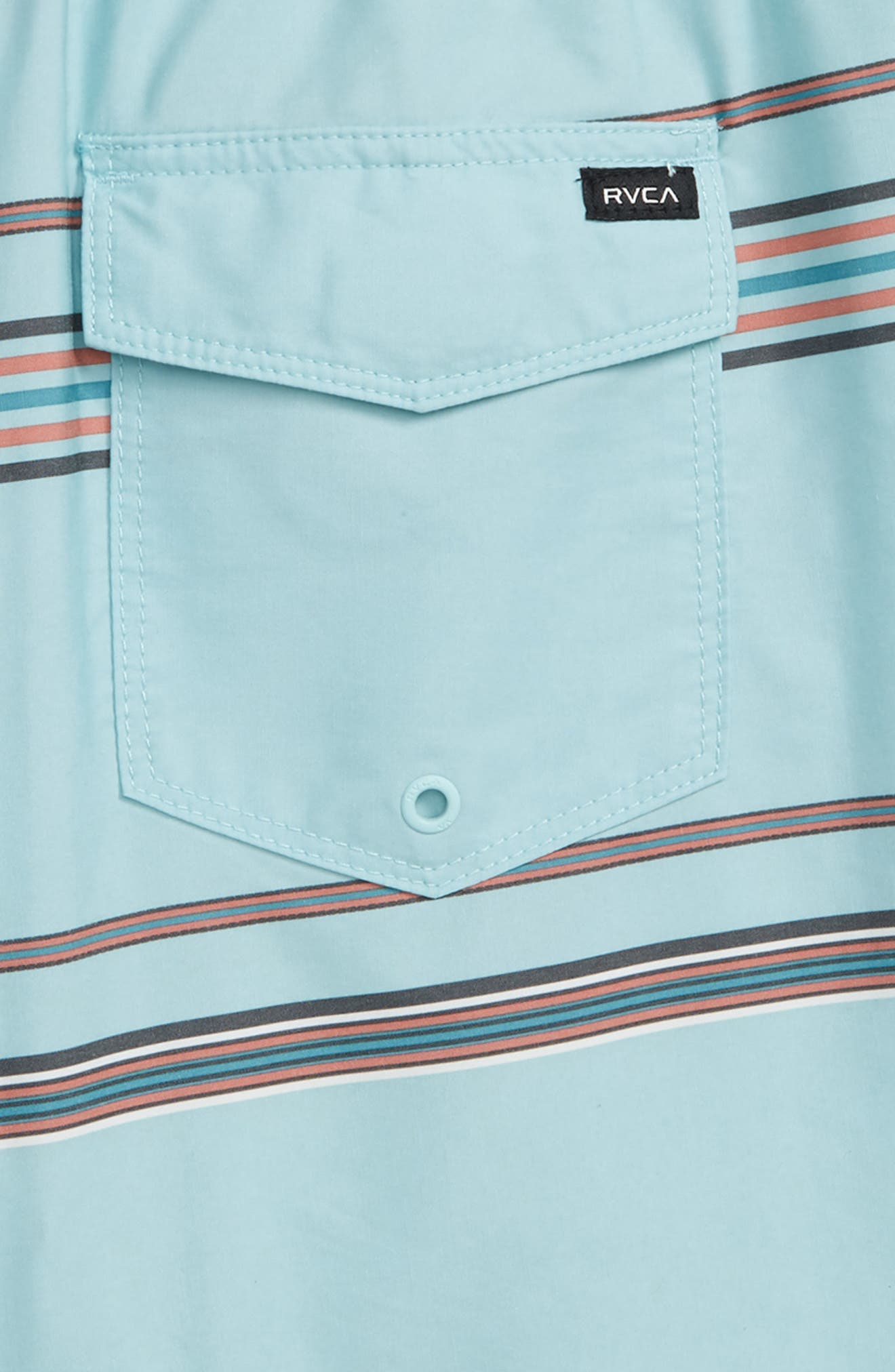 RVCA,                             Shattered Board Shorts,                             Alternate thumbnail 3, color,                             ETHER BLUE