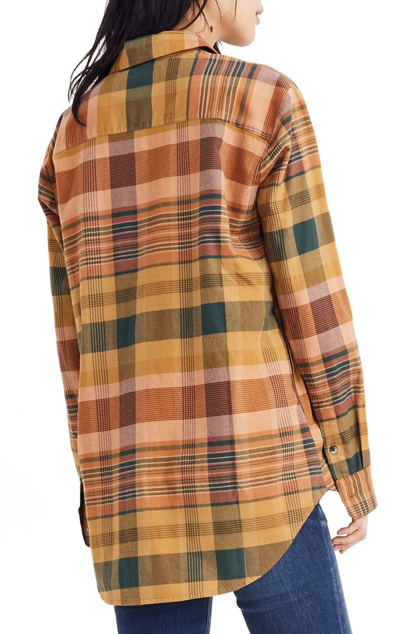 Seconda Plaid Sunday Flannel Shirt,                             Alternate thumbnail 2, color,                             EGYPTIAN GOLD