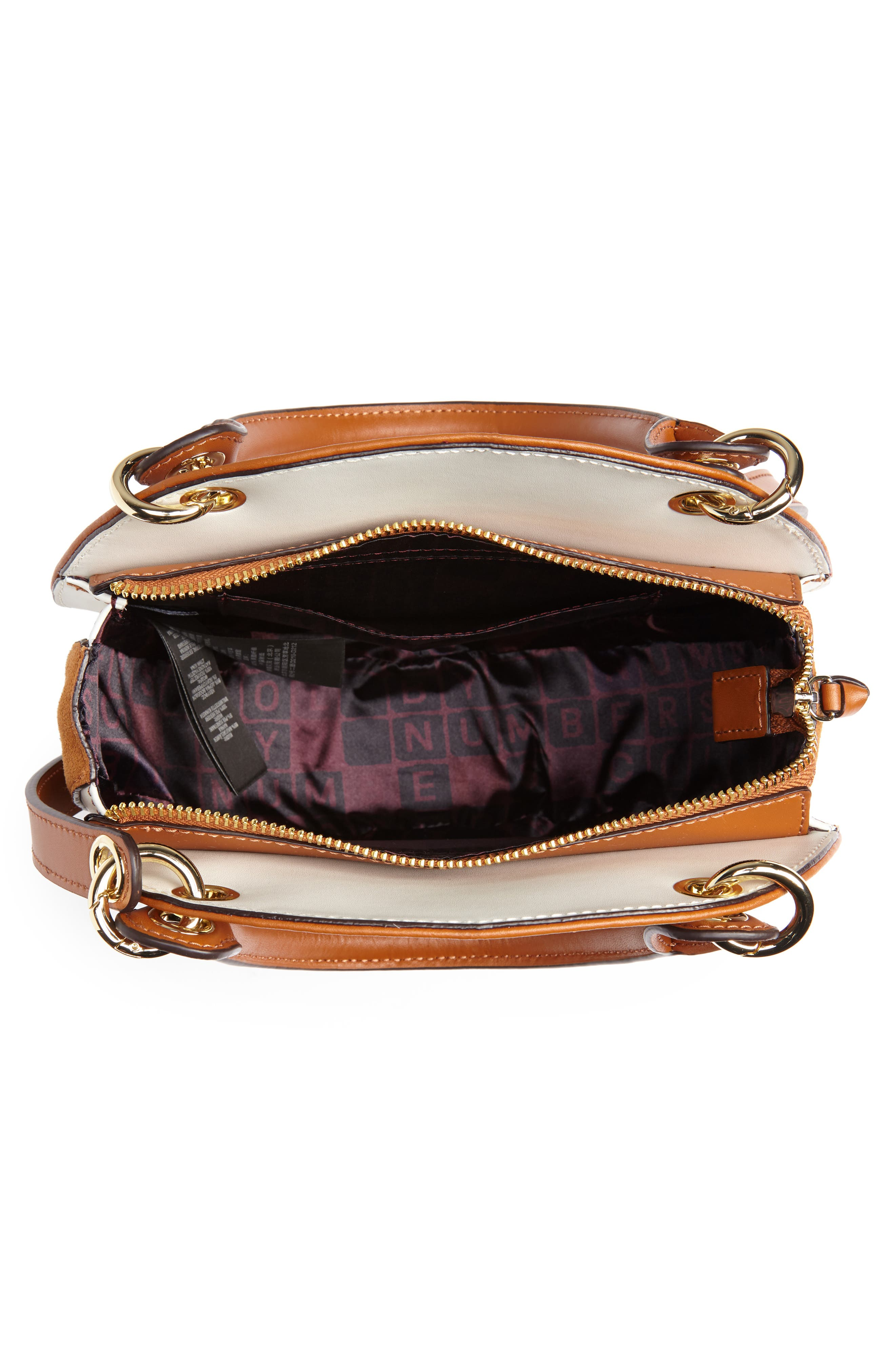 Colour by Numbers Sunnie Leather Circle Bag,                             Alternate thumbnail 4, color,                             217
