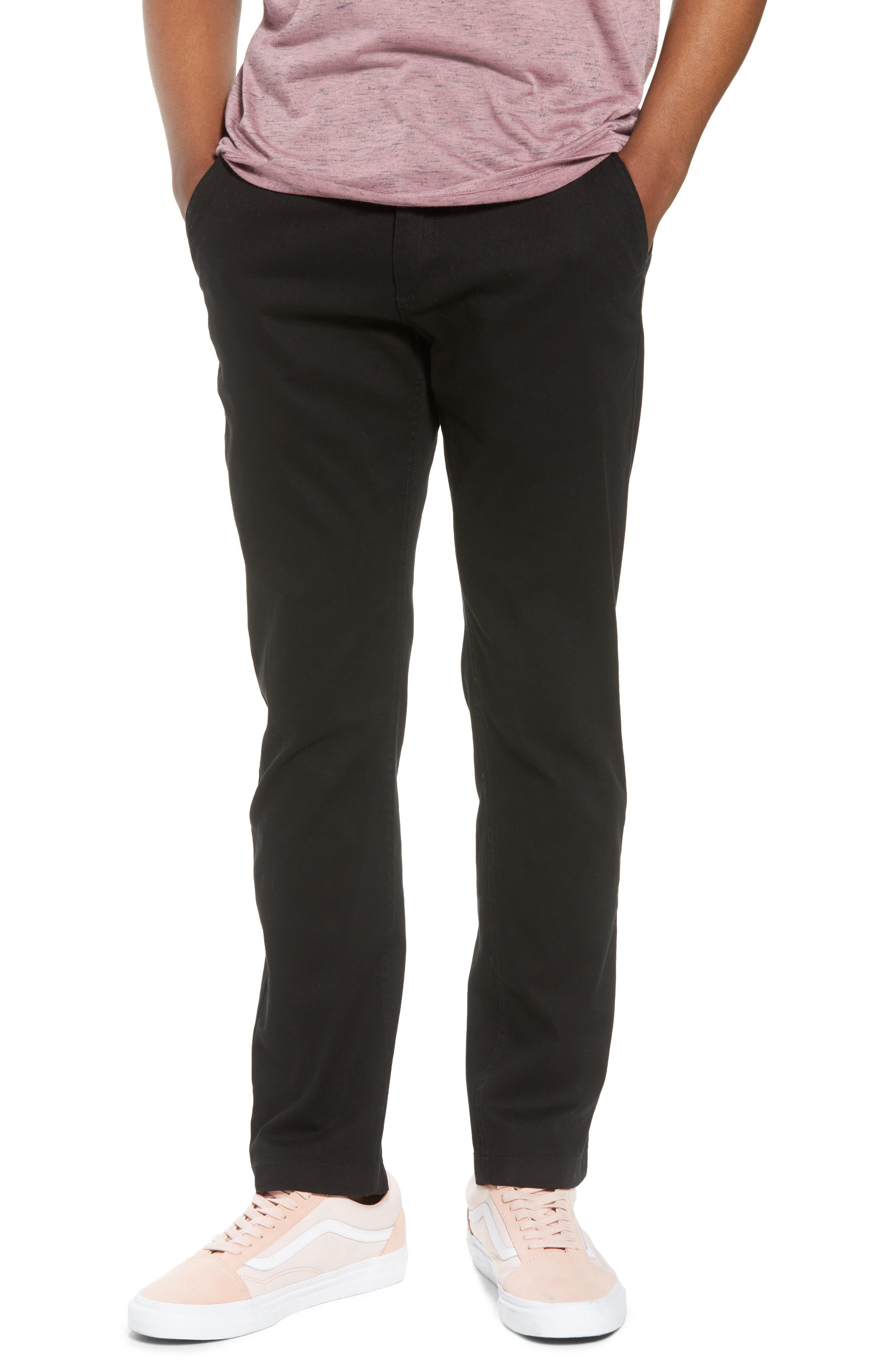 Crossroad Slim Fit Pants,                         Main,                         color, BLACK