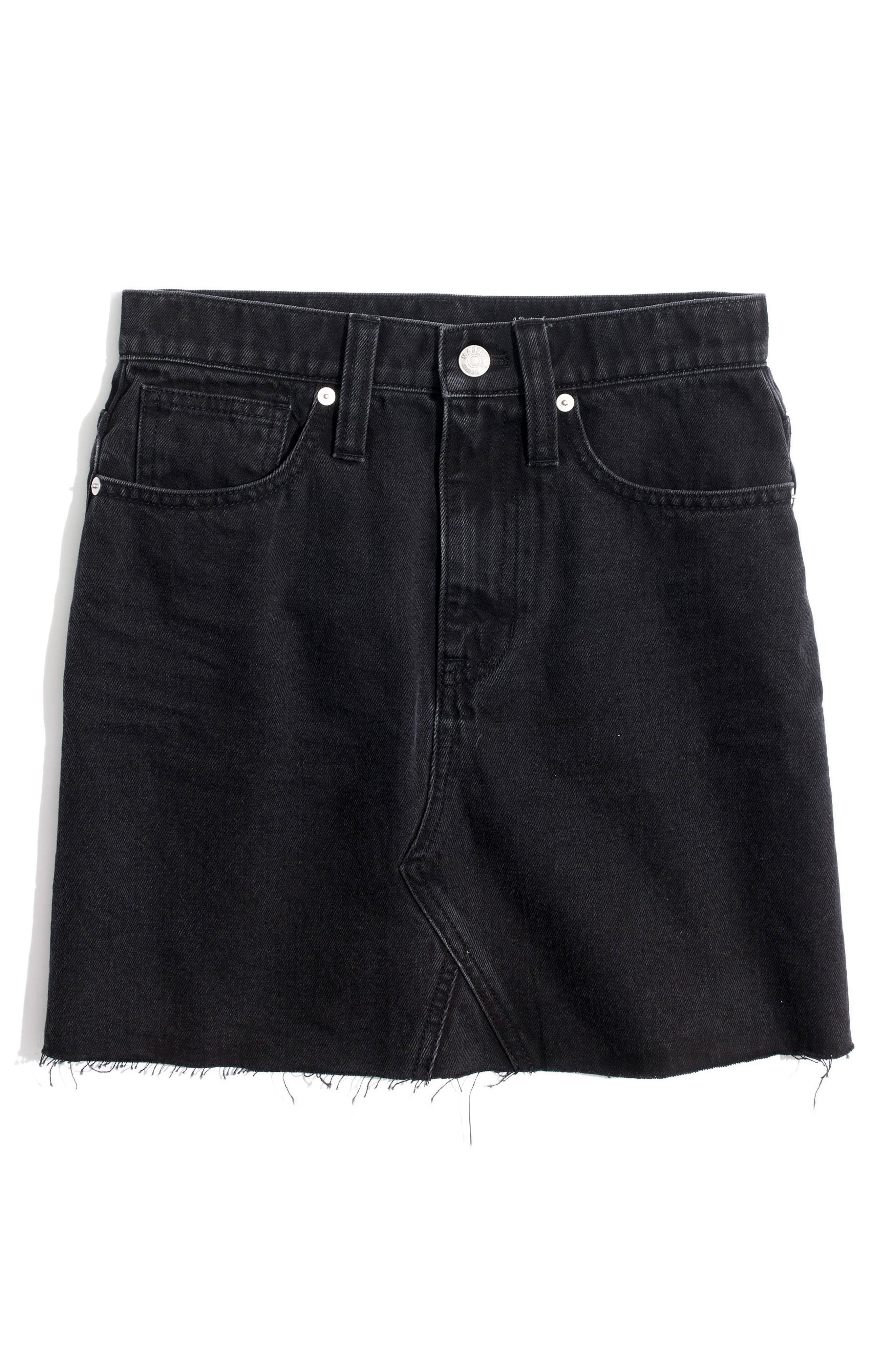Frisco Denim Miniskirt,                             Alternate thumbnail 4, color,                             001