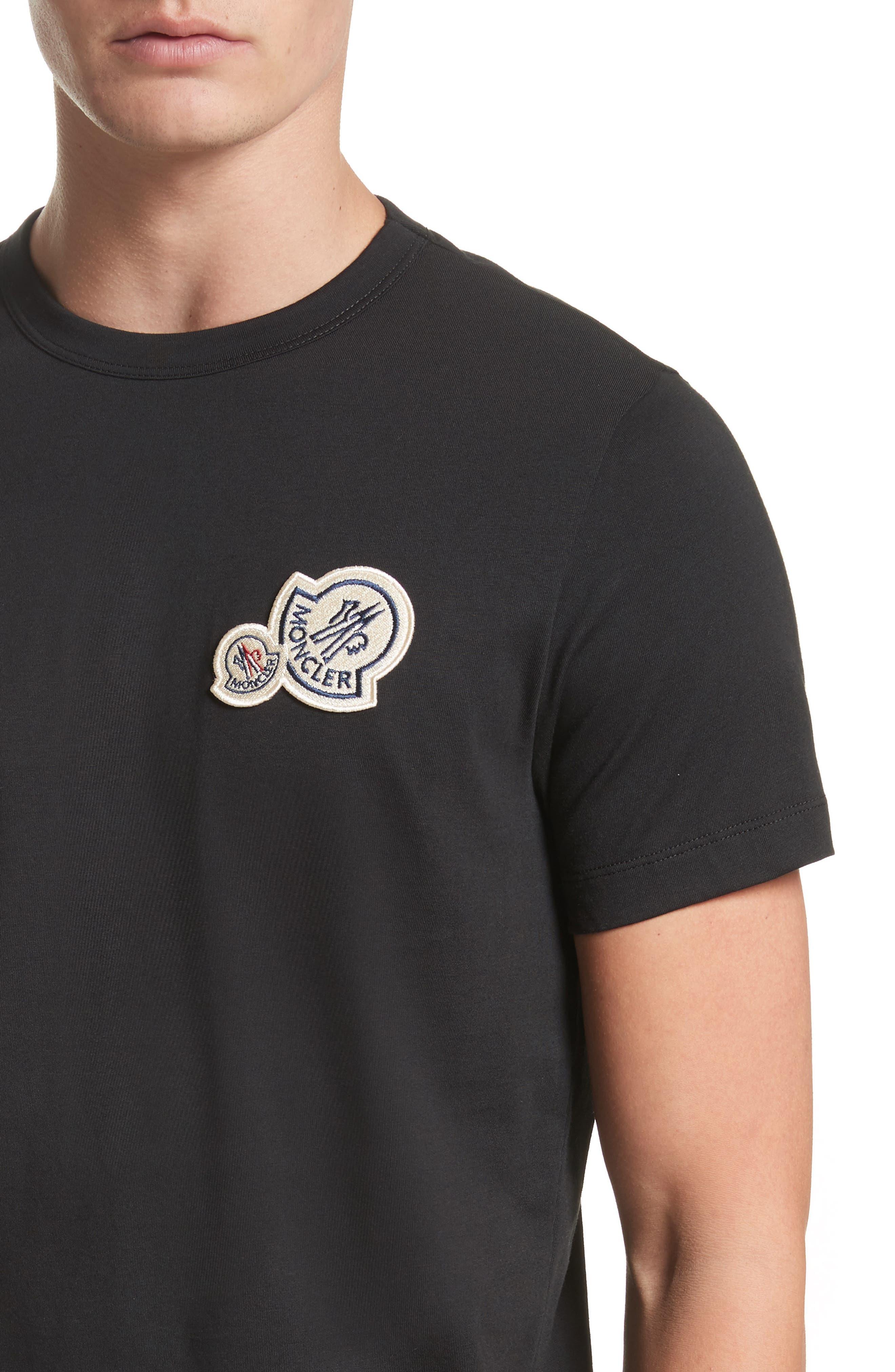 Patch Detail T-Shirt,                             Alternate thumbnail 4, color,                             001