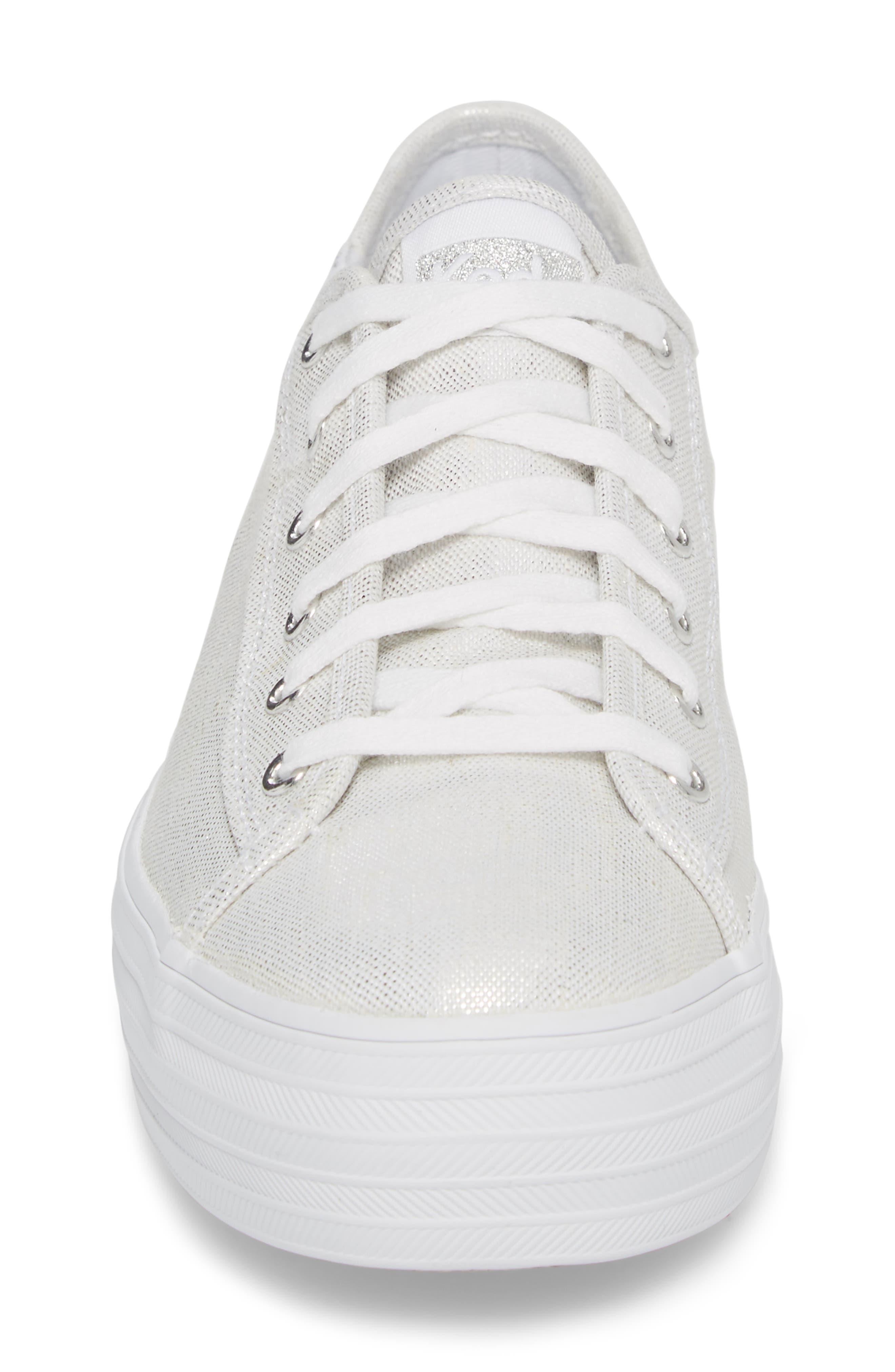 Triple Kick Metallic Linen Sneaker,                             Alternate thumbnail 4, color,                             040