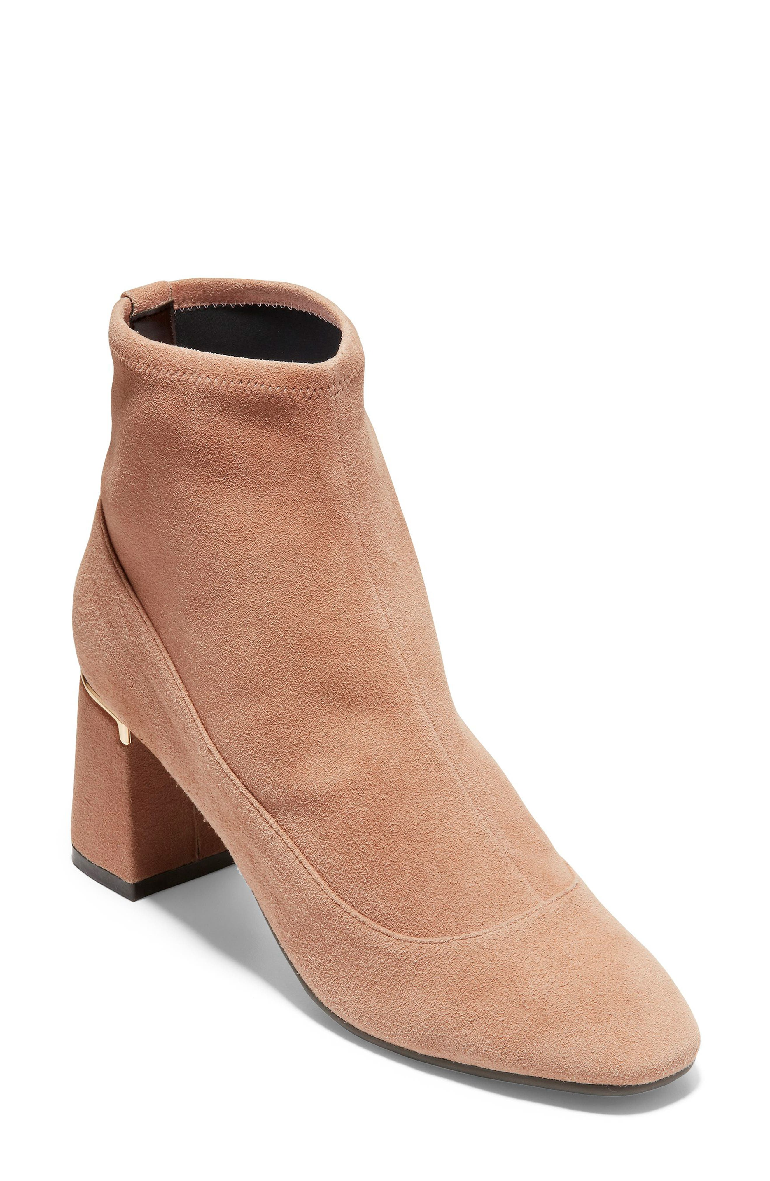Laree Stretch Bootie,                             Main thumbnail 1, color,                             MOCHA STRETCH SUEDE