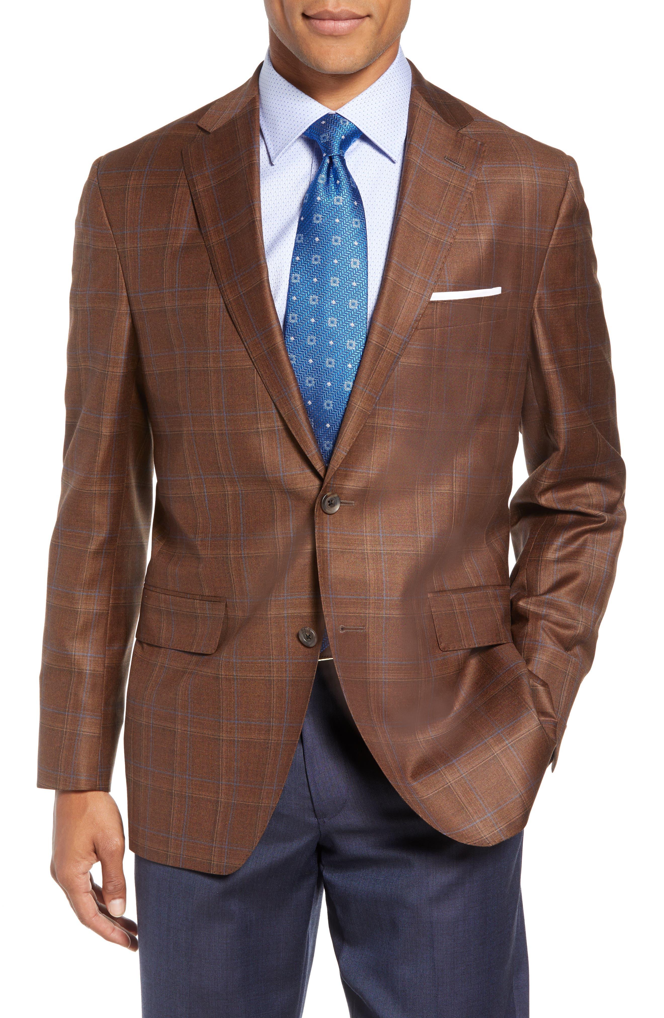Arnold Classic Fit Plaid Wool Sport Coat,                         Main,                         color, 200