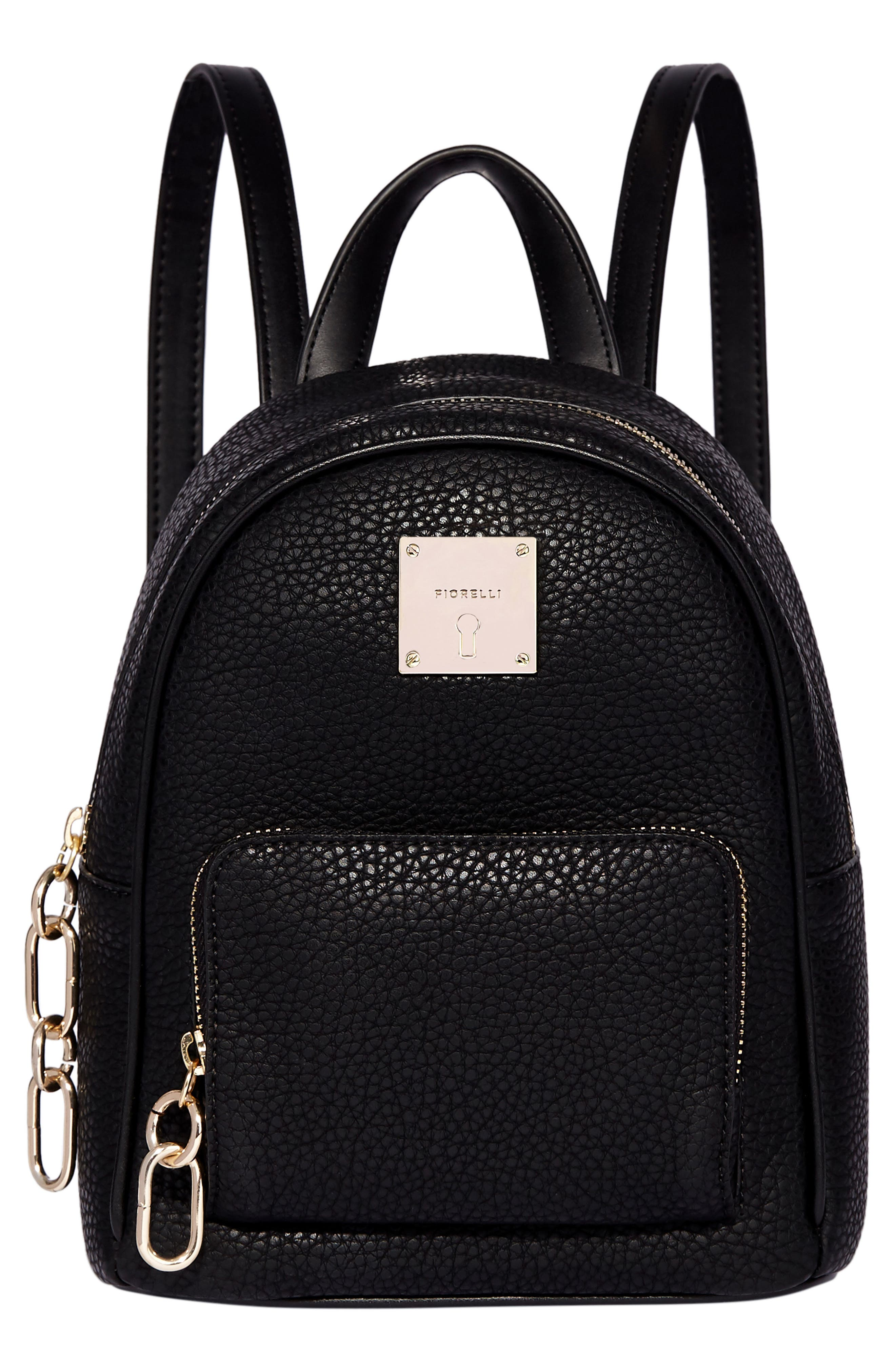 Mini Convertible Faux Leather Backpack,                             Main thumbnail 1, color,                             001