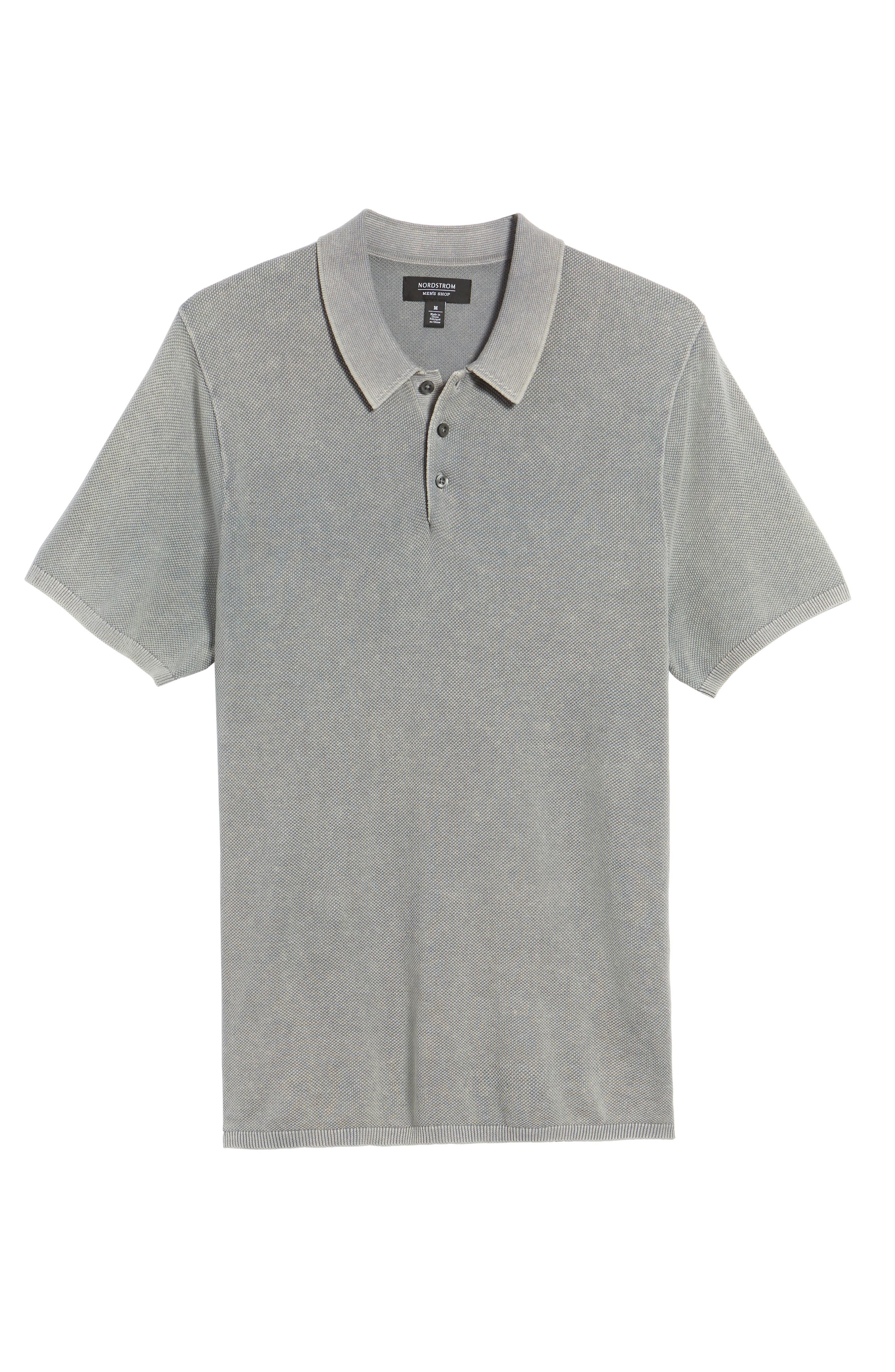 Washed Piqué Polo,                             Alternate thumbnail 6, color,                             050