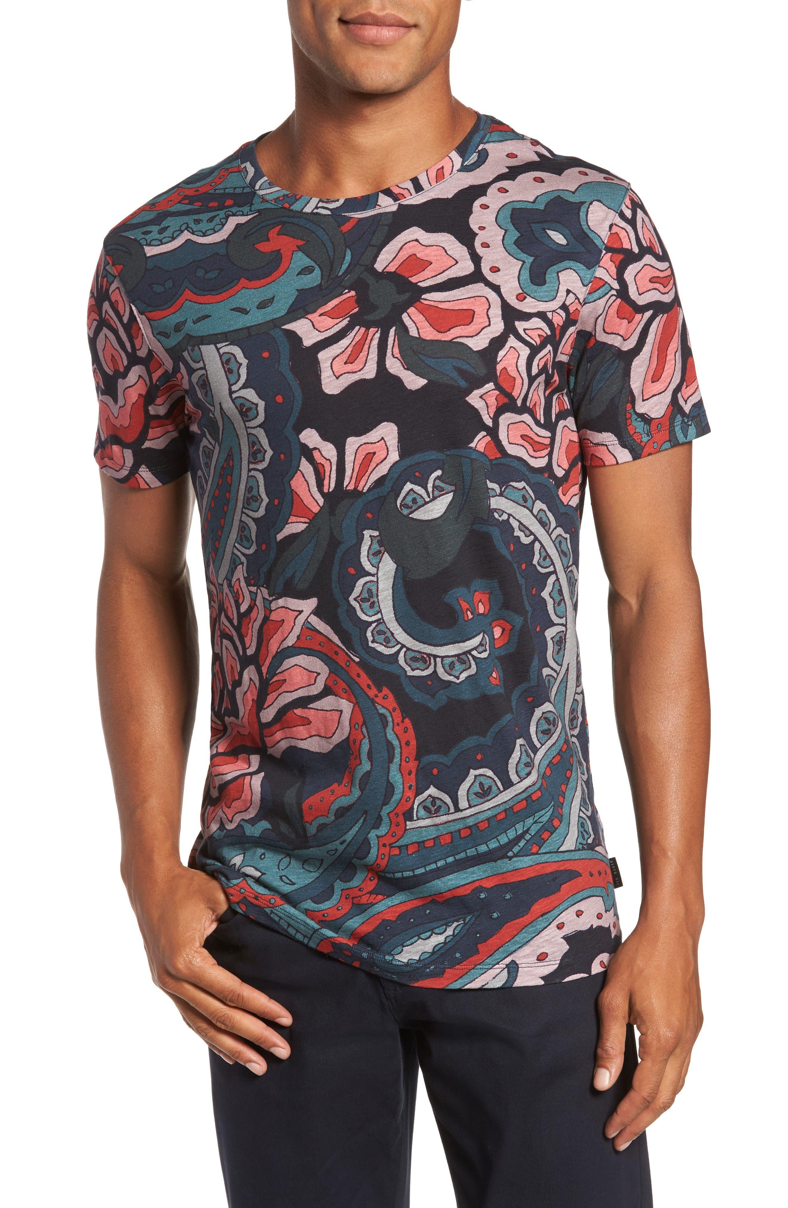 Batsby Paisley Print T-Shirt,                             Main thumbnail 1, color,                             601