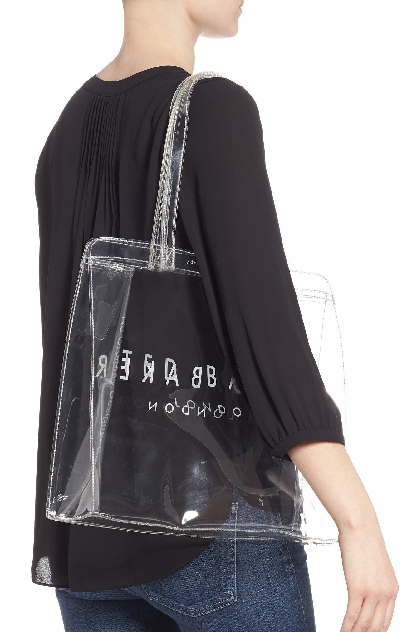 Large Clear Icon Tote,                             Alternate thumbnail 2, color,                             CLEAR