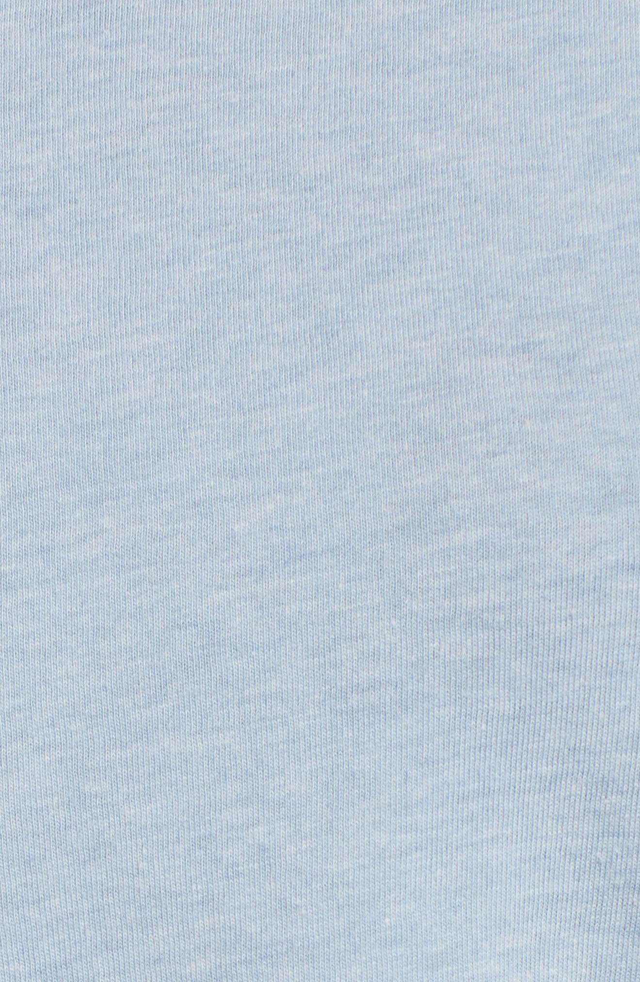 Cutout Neck Front Tie Tee,                             Alternate thumbnail 6, color,                             460
