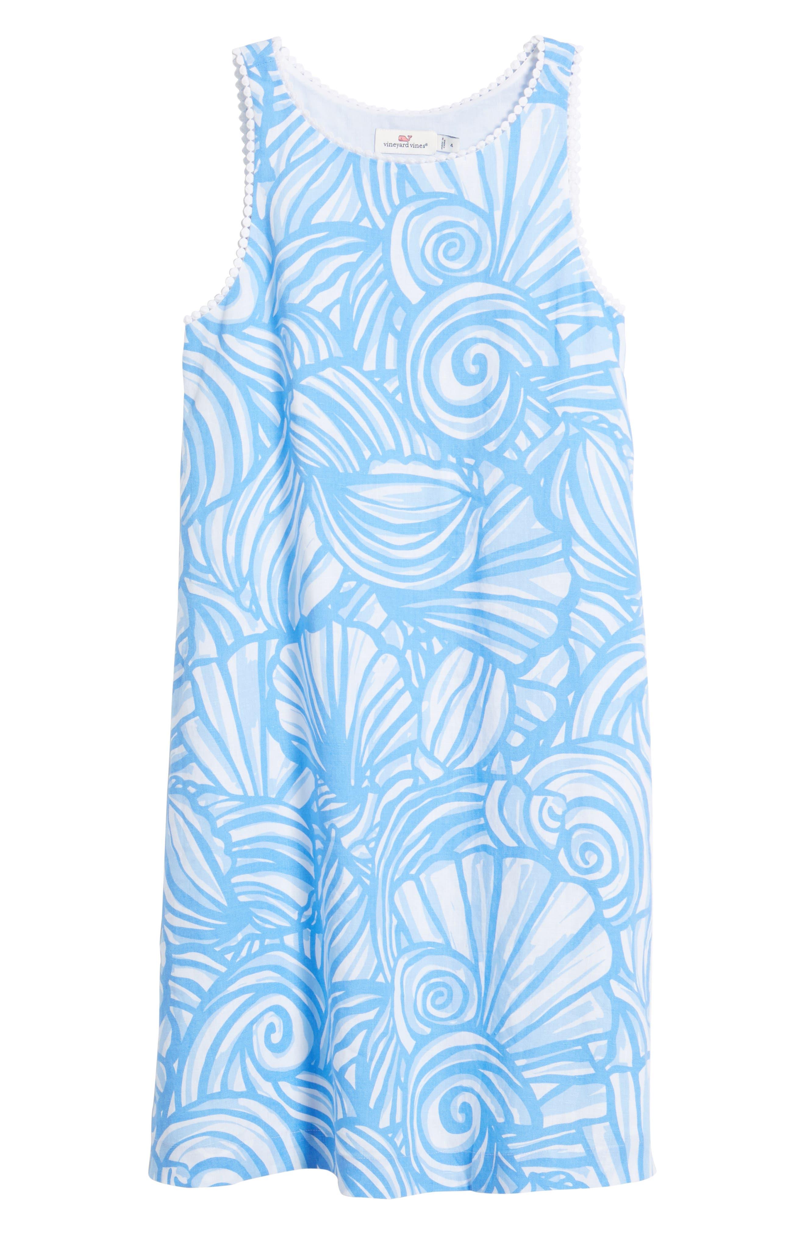 Nautilus Print Shift Dress,                             Alternate thumbnail 7, color,
