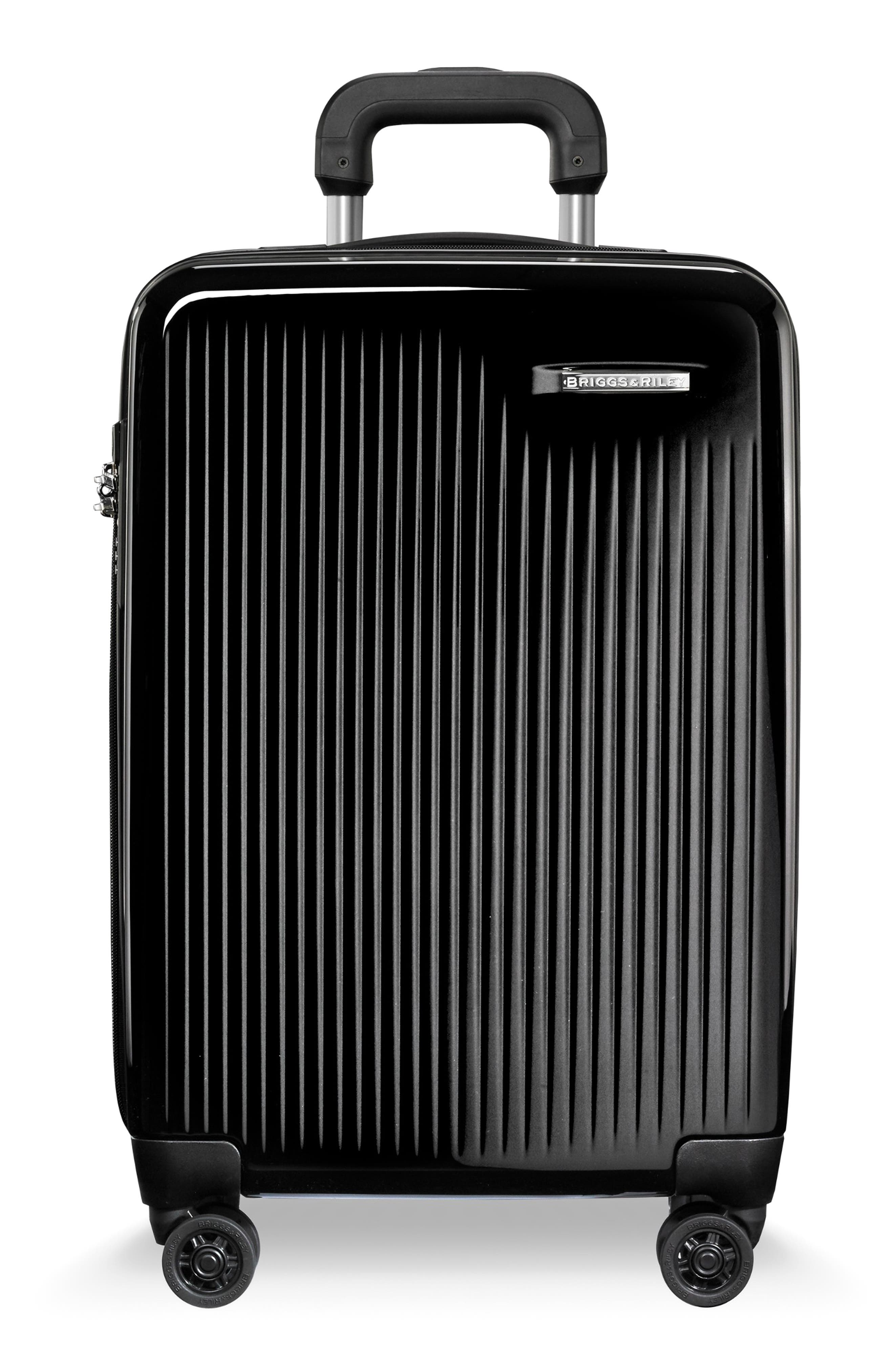 22-Inch Domestic Expandable Spinner Wheeled Carry-On,                         Main,                         color, ONYX GLOSS