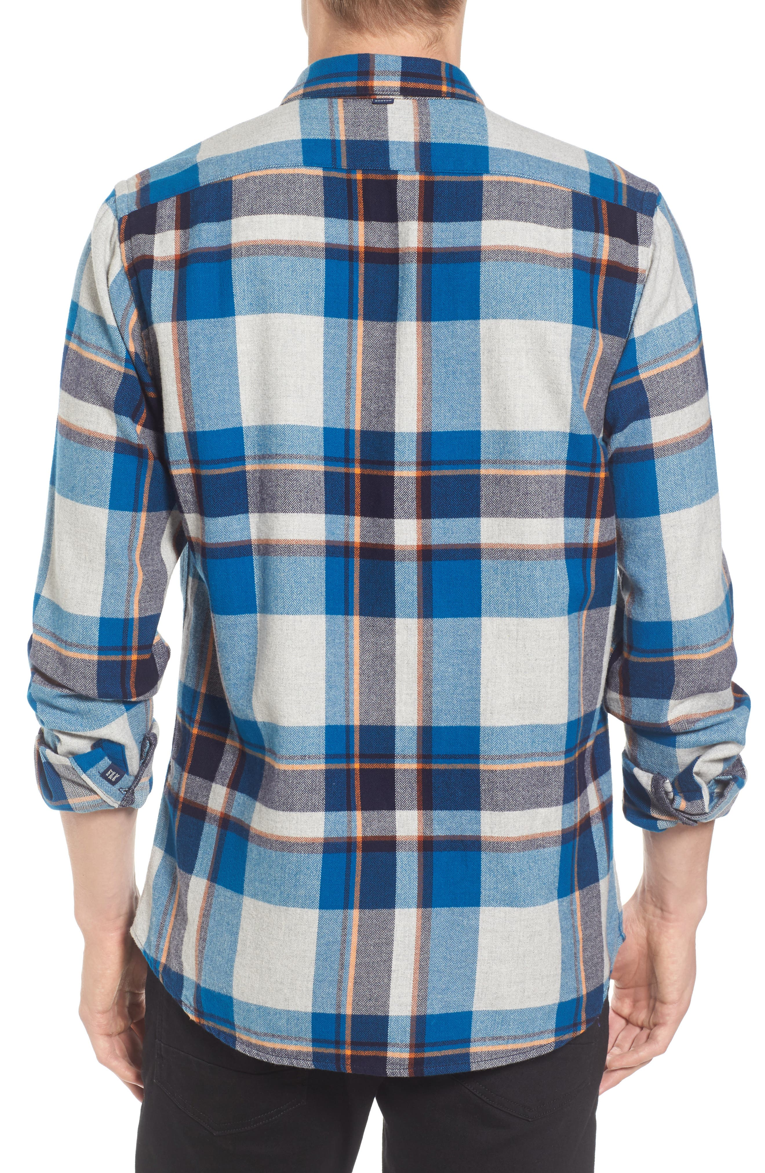 Brushed Flannel Plaid Shirt,                             Alternate thumbnail 2, color,                             111