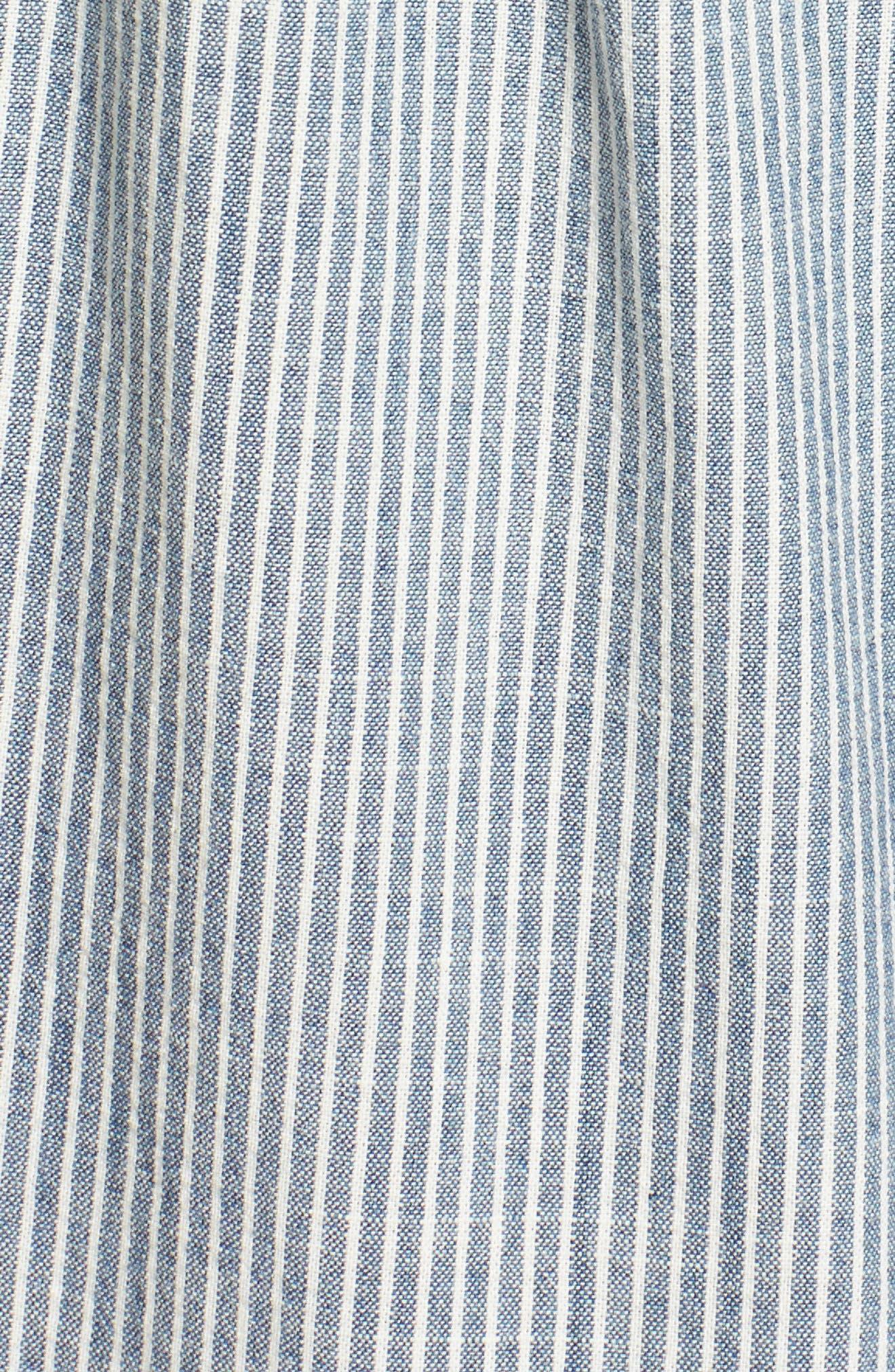The Liza Engineer Stripe Shirt,                             Alternate thumbnail 5, color,                             LOFT