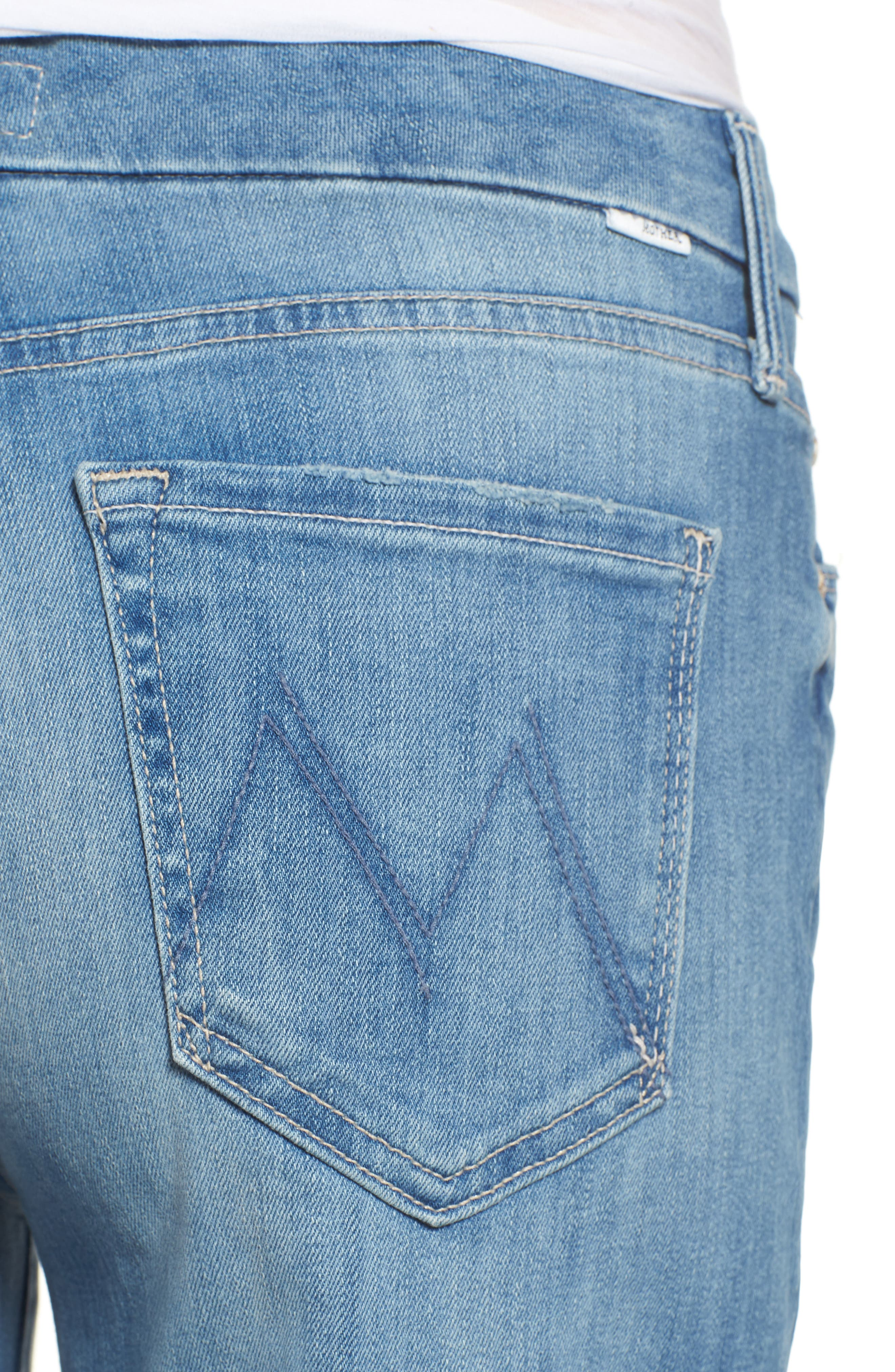 The Roller Crop Snippet Wide Leg Jeans,                             Alternate thumbnail 4, color,