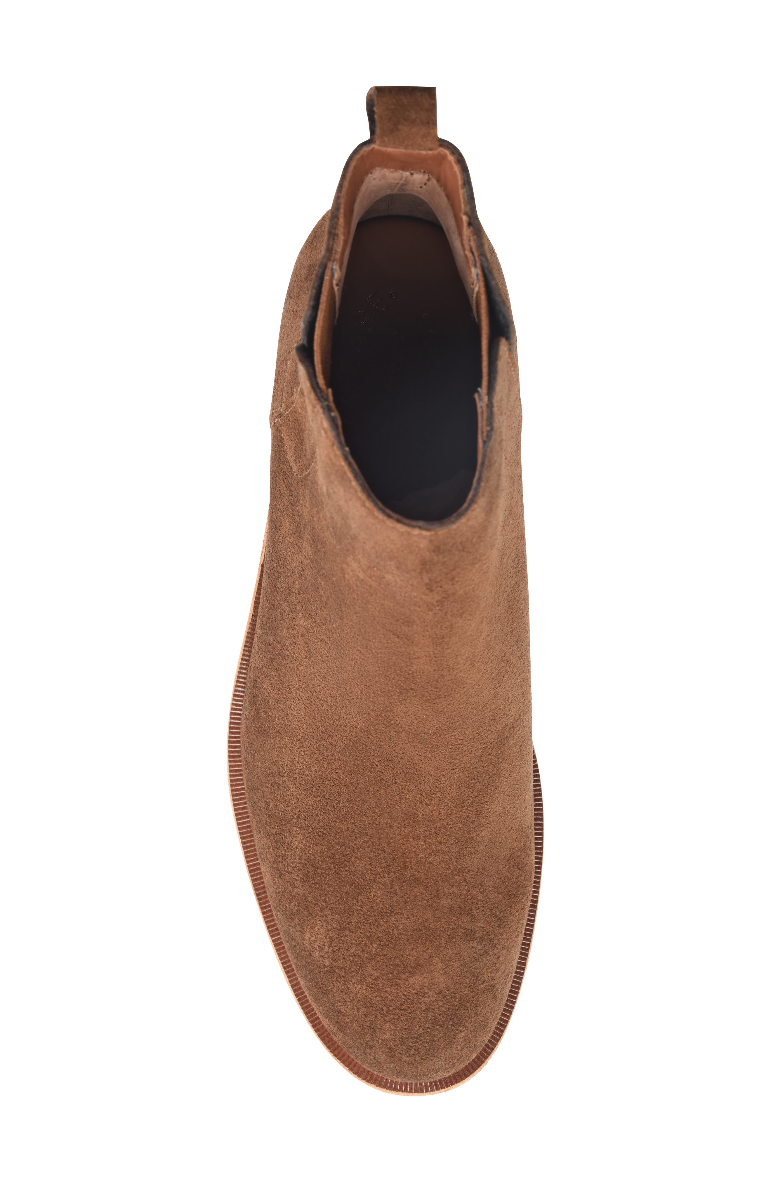 Mindo Chelsea Bootie,                             Alternate thumbnail 5, color,                             BROWN SUEDE