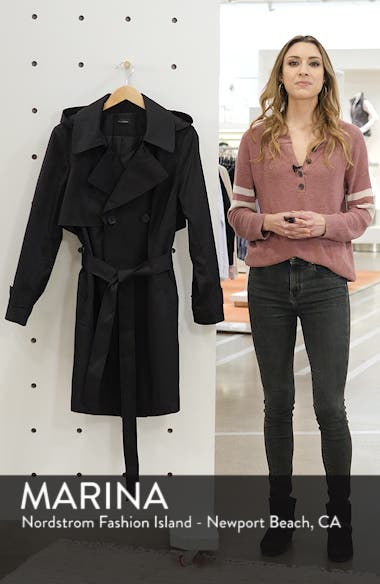 Double Breasted Hooded Trench Coat, sales video thumbnail