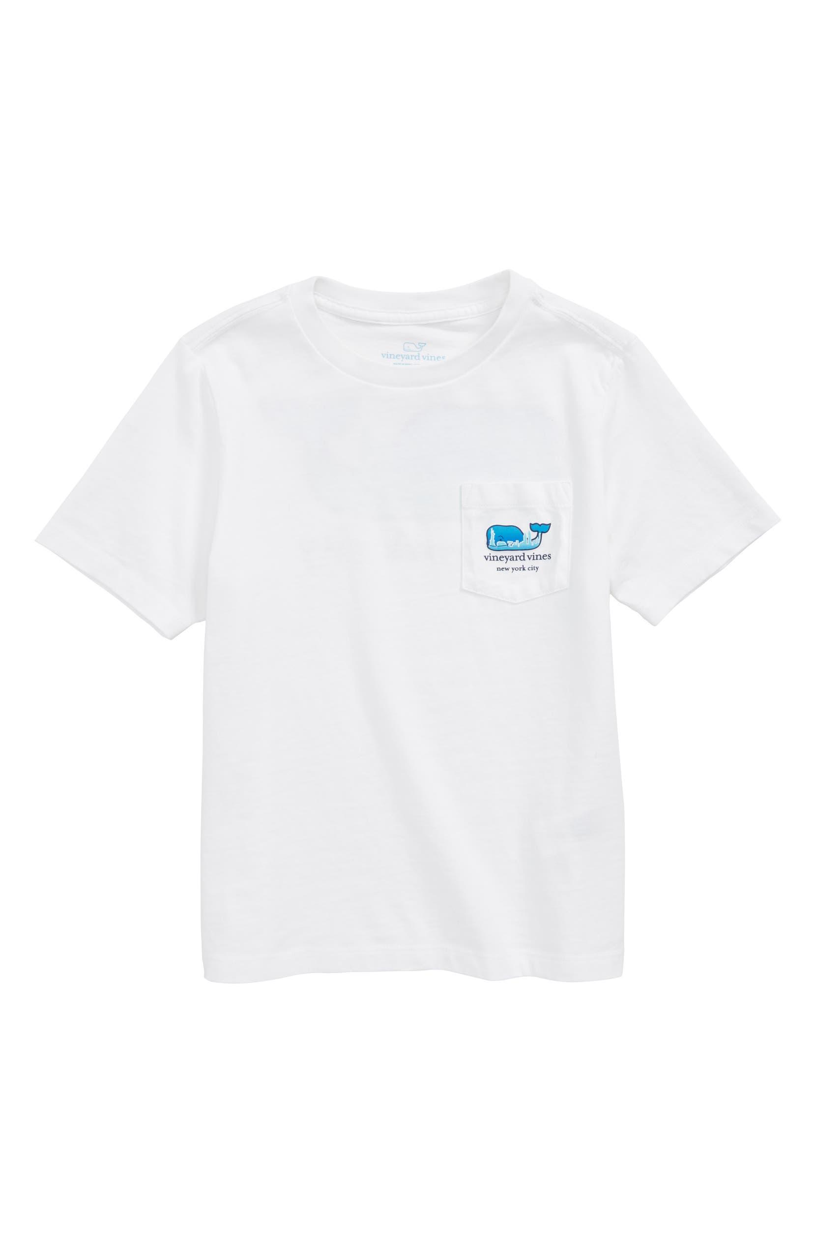 Vineyard Vines New York City Whale Pocket T Shirt Toddler Boys
