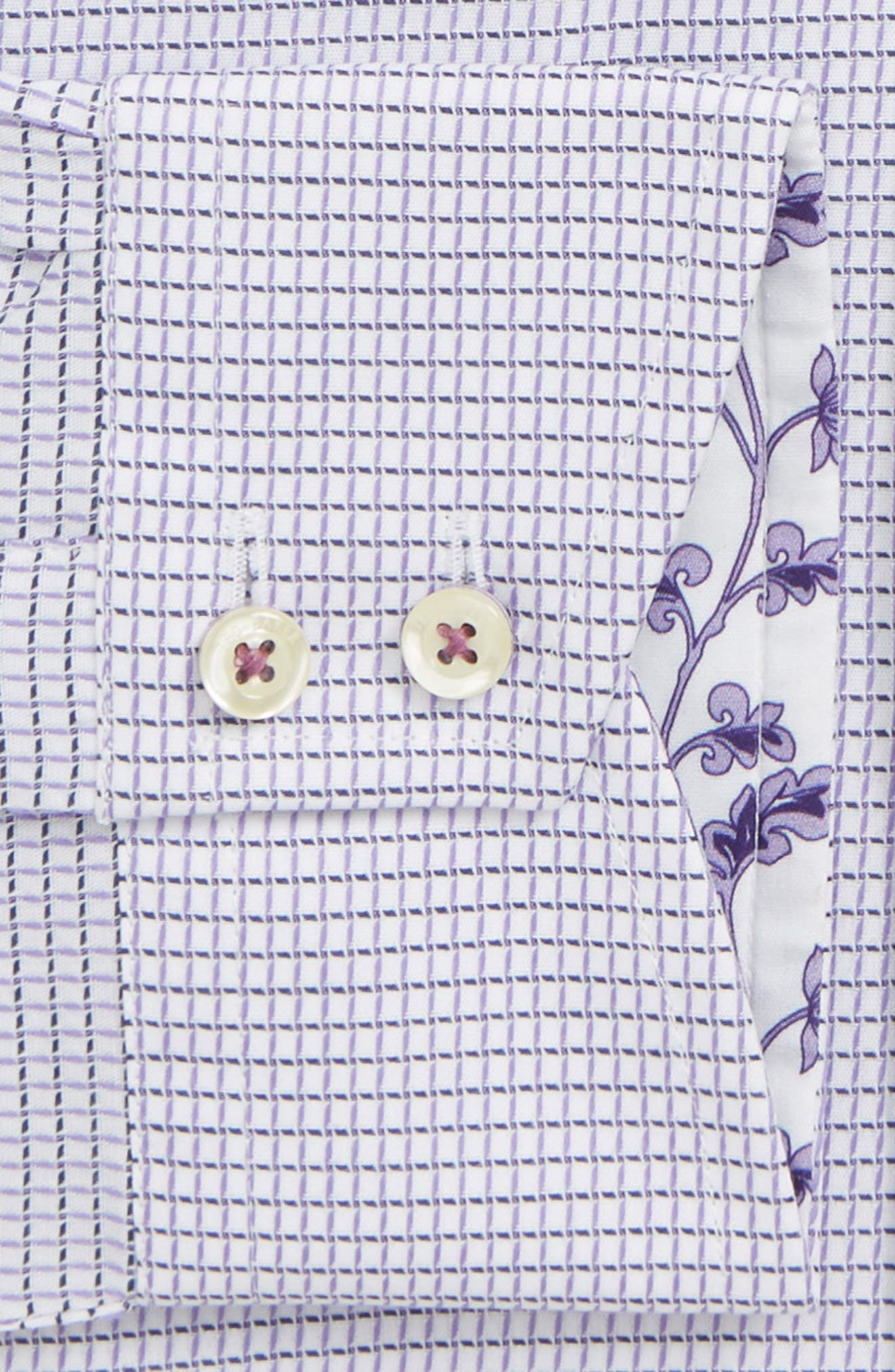 Jossle Trim Fit Check Dress Shirt,                             Alternate thumbnail 2, color,                             LILAC