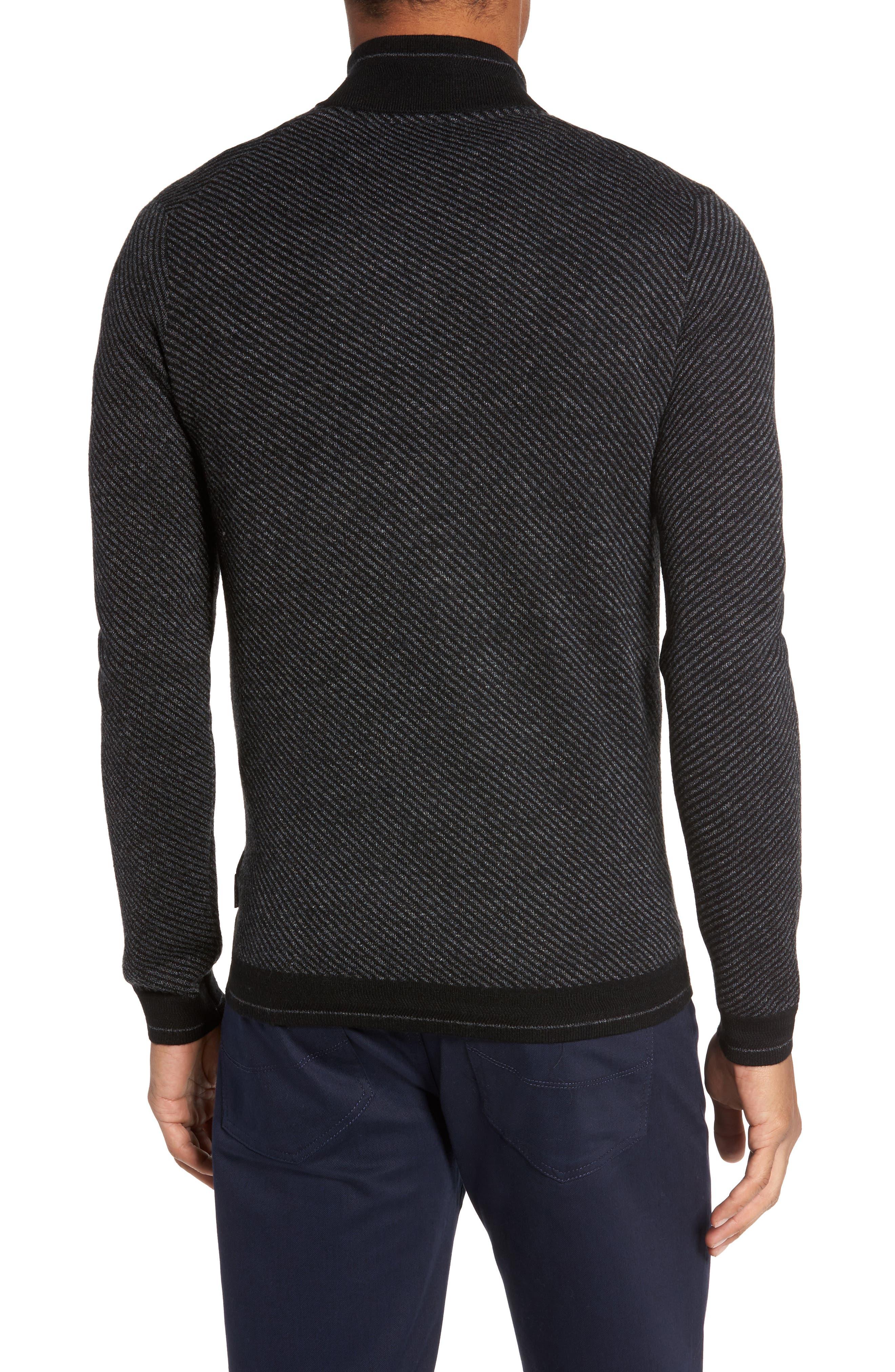 Stripe Quarter Zip Sweater,                             Alternate thumbnail 2, color,                             001
