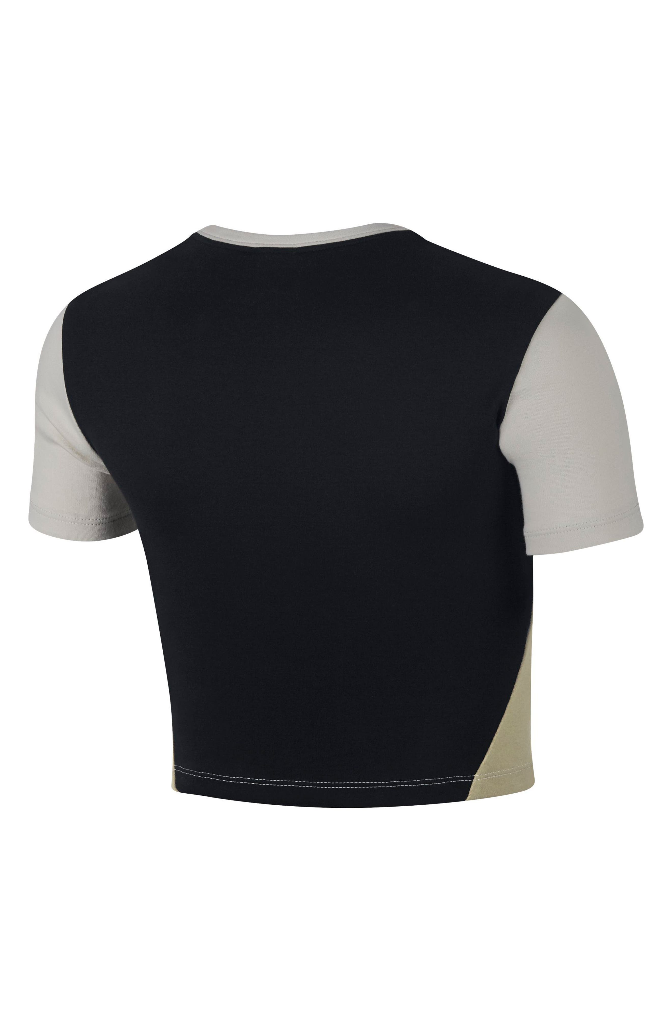 Sportswear Stretch Jersey Crop Top,                             Alternate thumbnail 2, color,                             LIGHT BONE/BLACK/NEUTRAL OLIVE