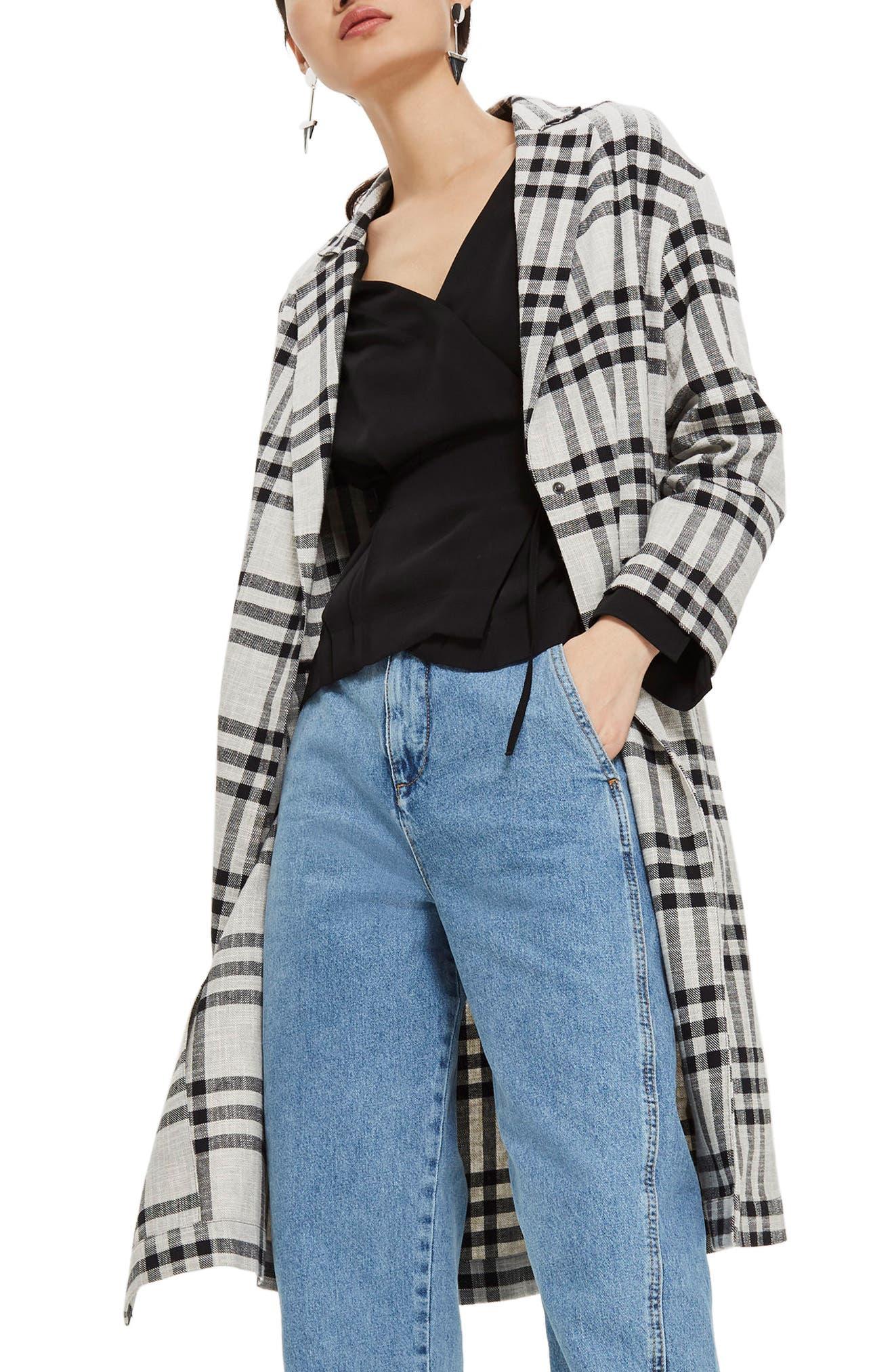 Windowpane Duster Coat,                         Main,                         color, 020