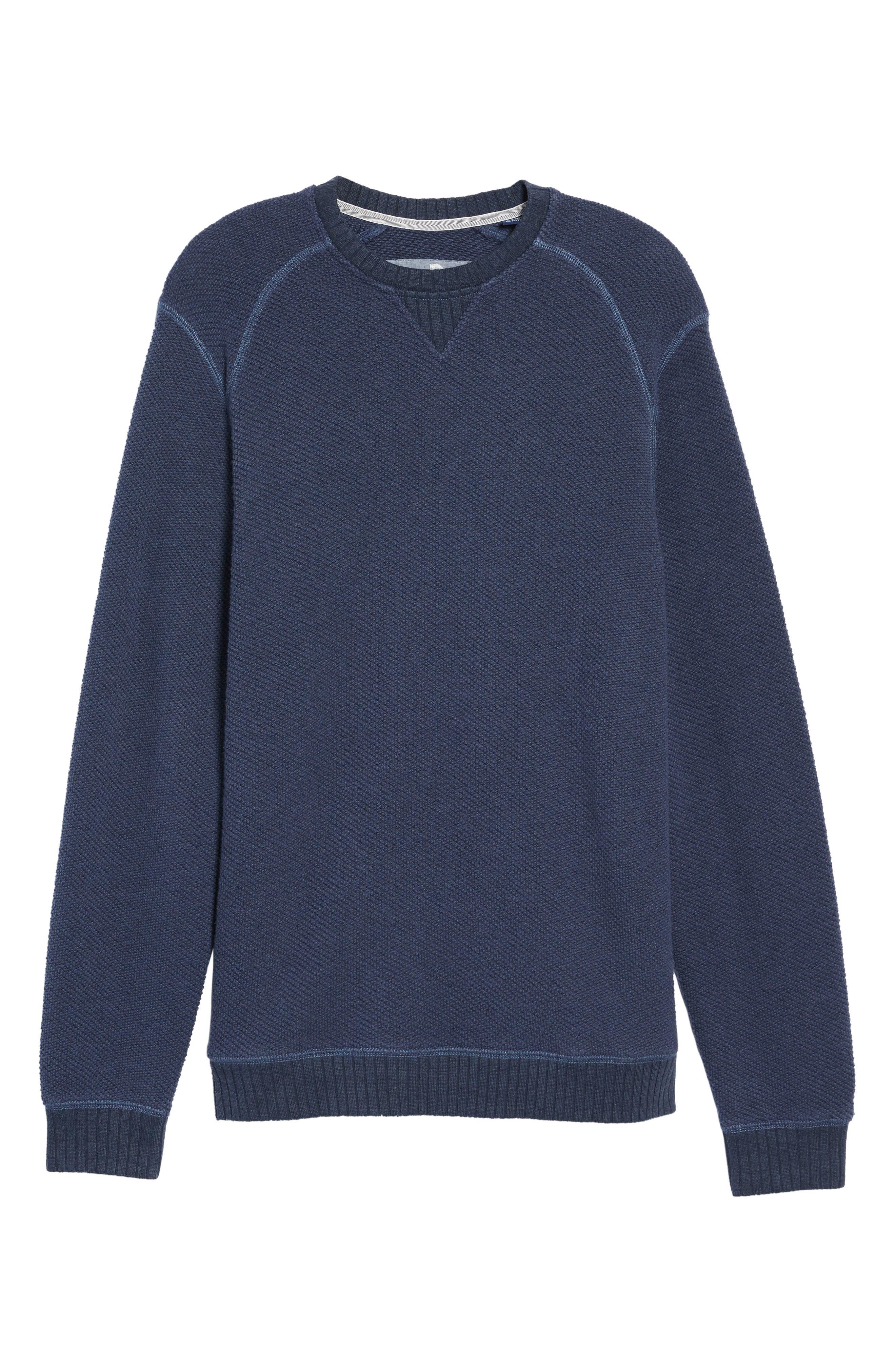 Surfari Crewneck Sweatshirt,                             Alternate thumbnail 6, color,                             001