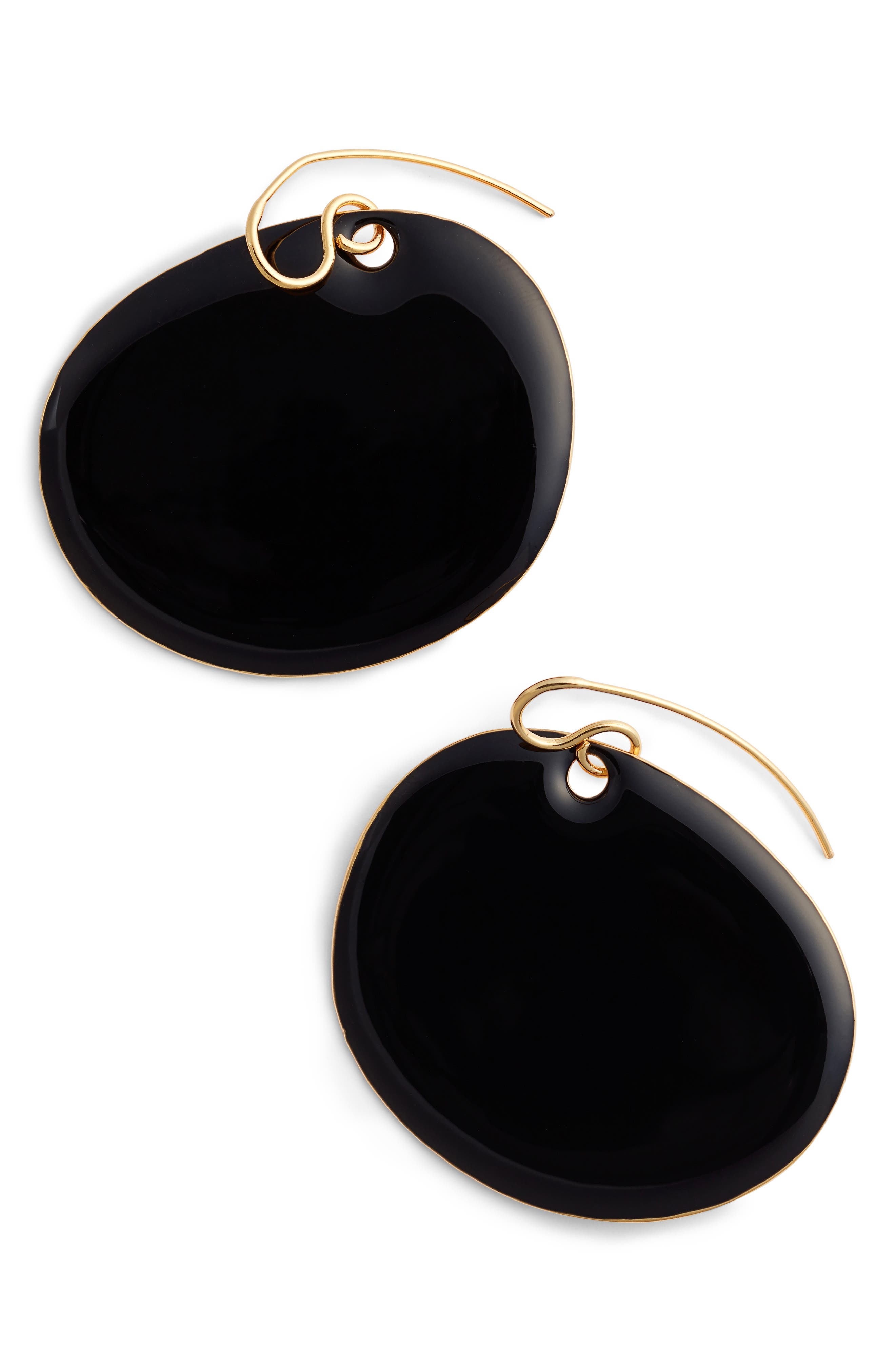 Flat Disc Earrings,                             Main thumbnail 1, color,                             001