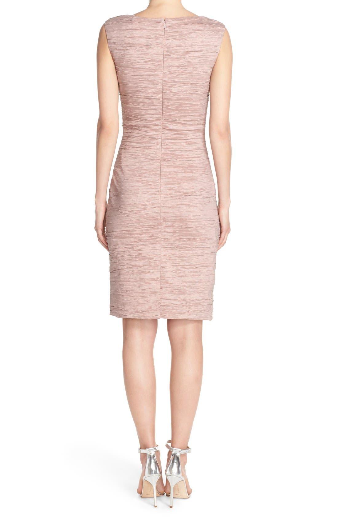 Embellished Taffeta Sheath Dress,                             Alternate thumbnail 9, color,