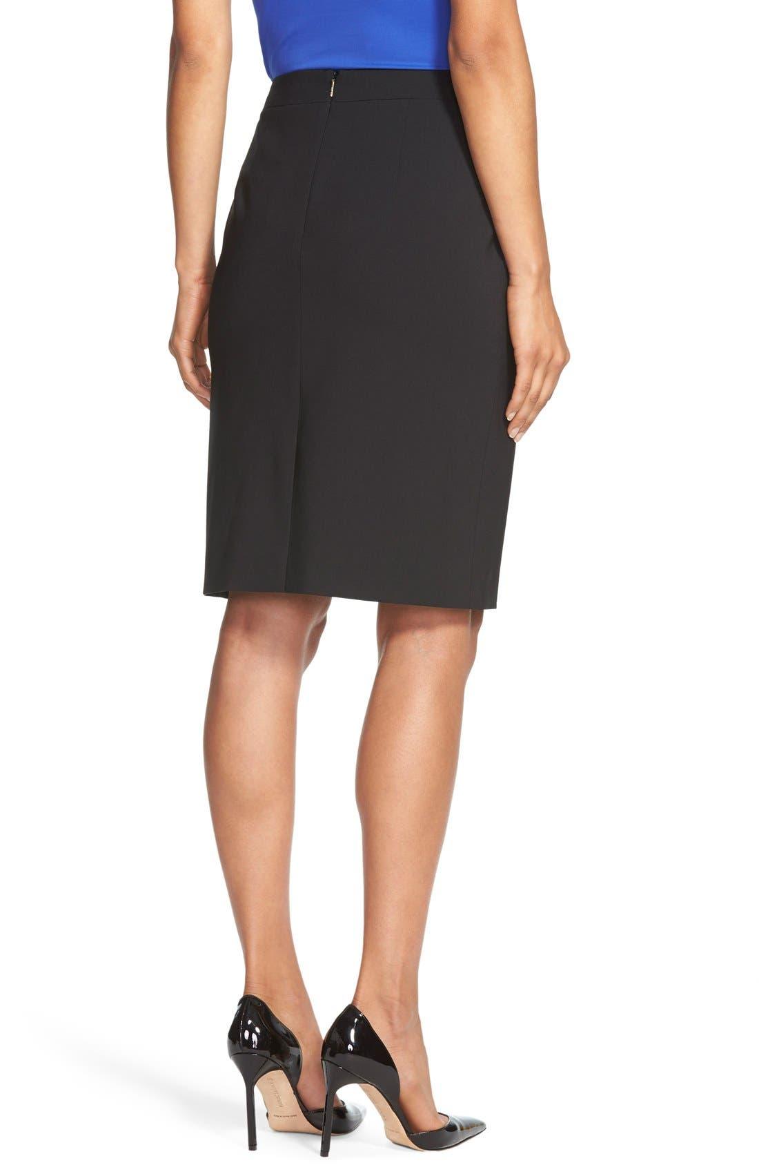 Vilea Tropical Stretch Wool Pencil Skirt,                             Alternate thumbnail 24, color,