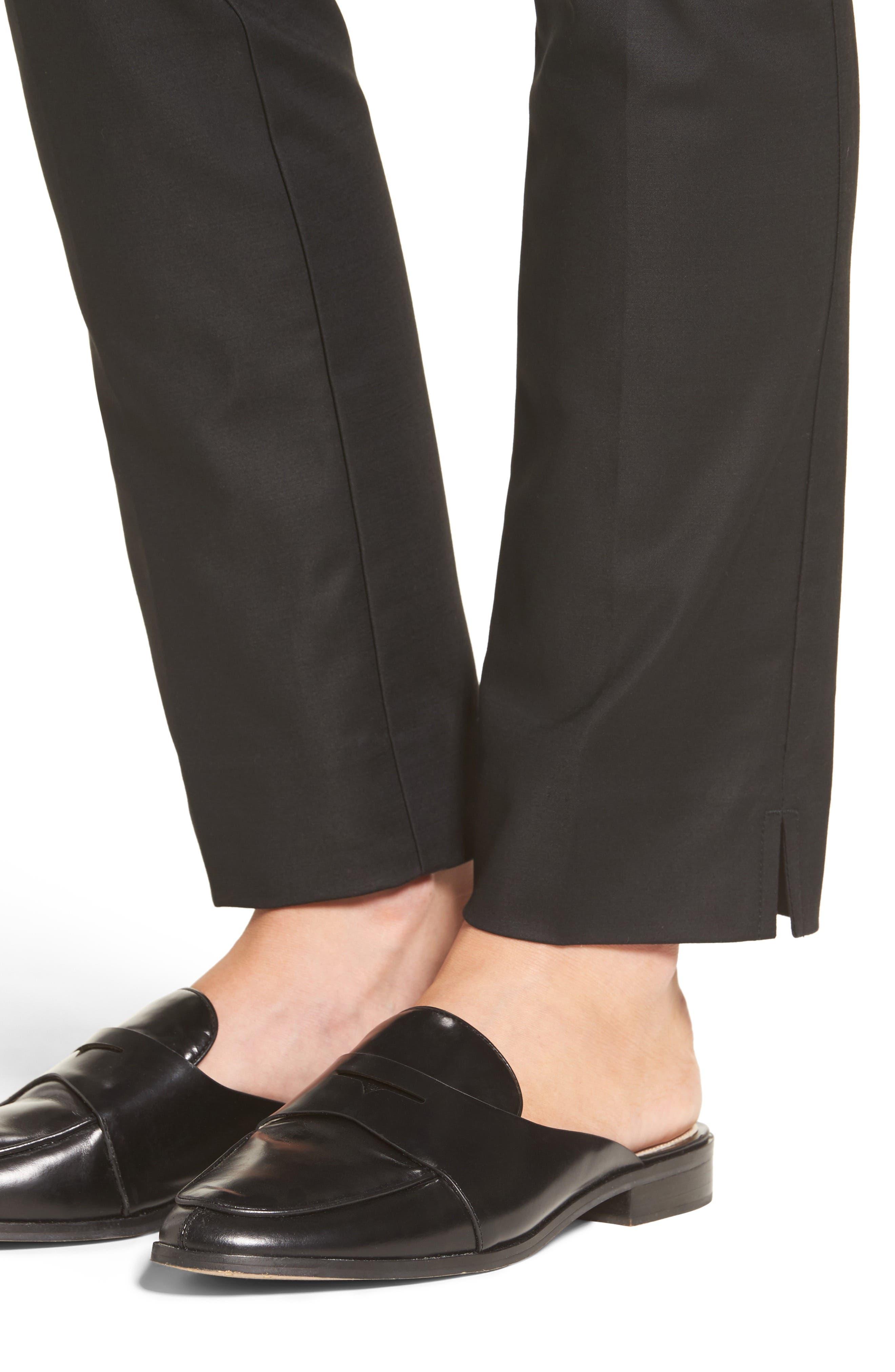 The Perfect Slim Ankle Pants,                             Alternate thumbnail 4, color,                             BLACK ONYX