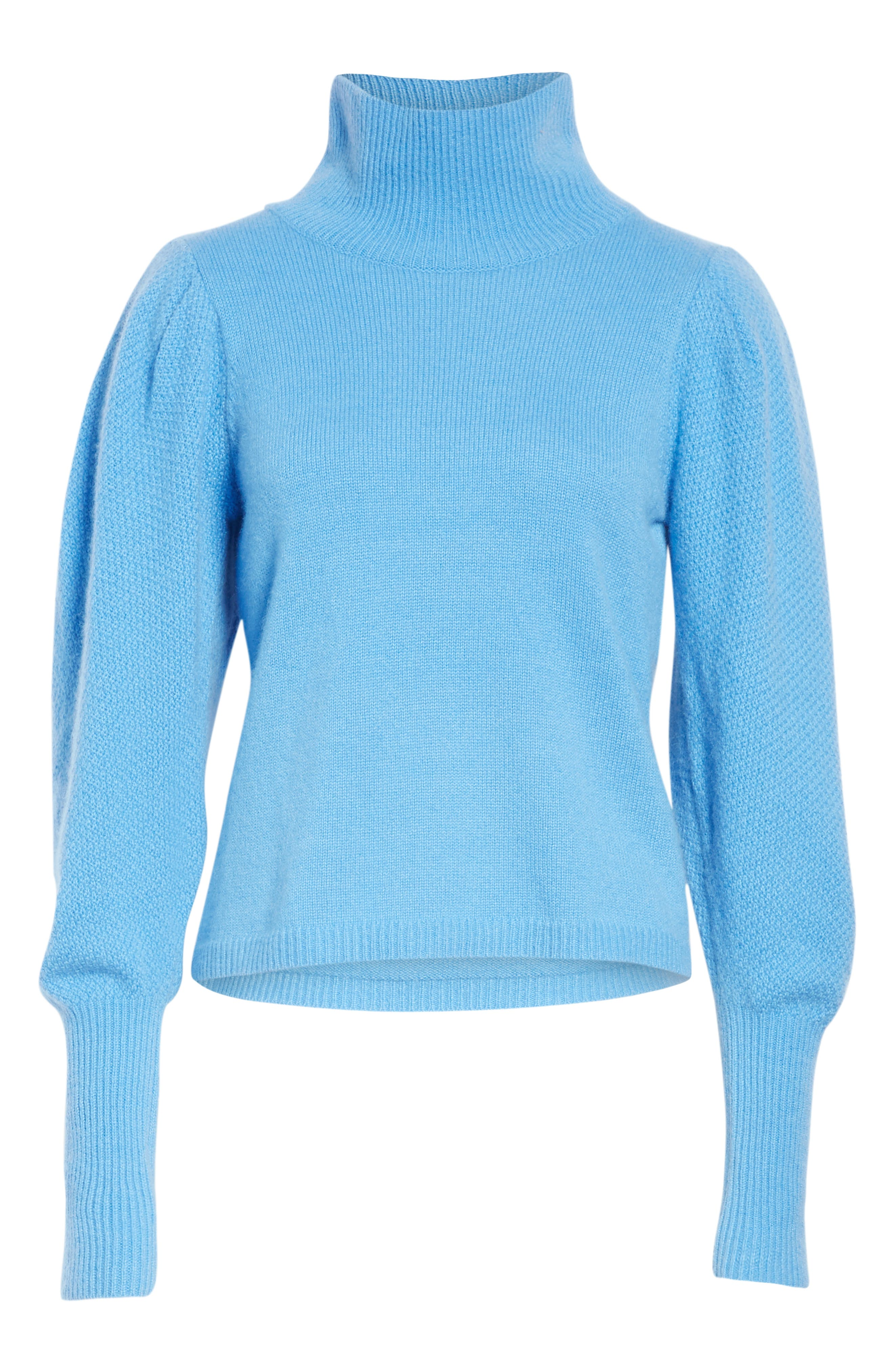 Beatrice Wool & Cashmere Sweater,                             Alternate thumbnail 6, color,                             HYDRANGEA