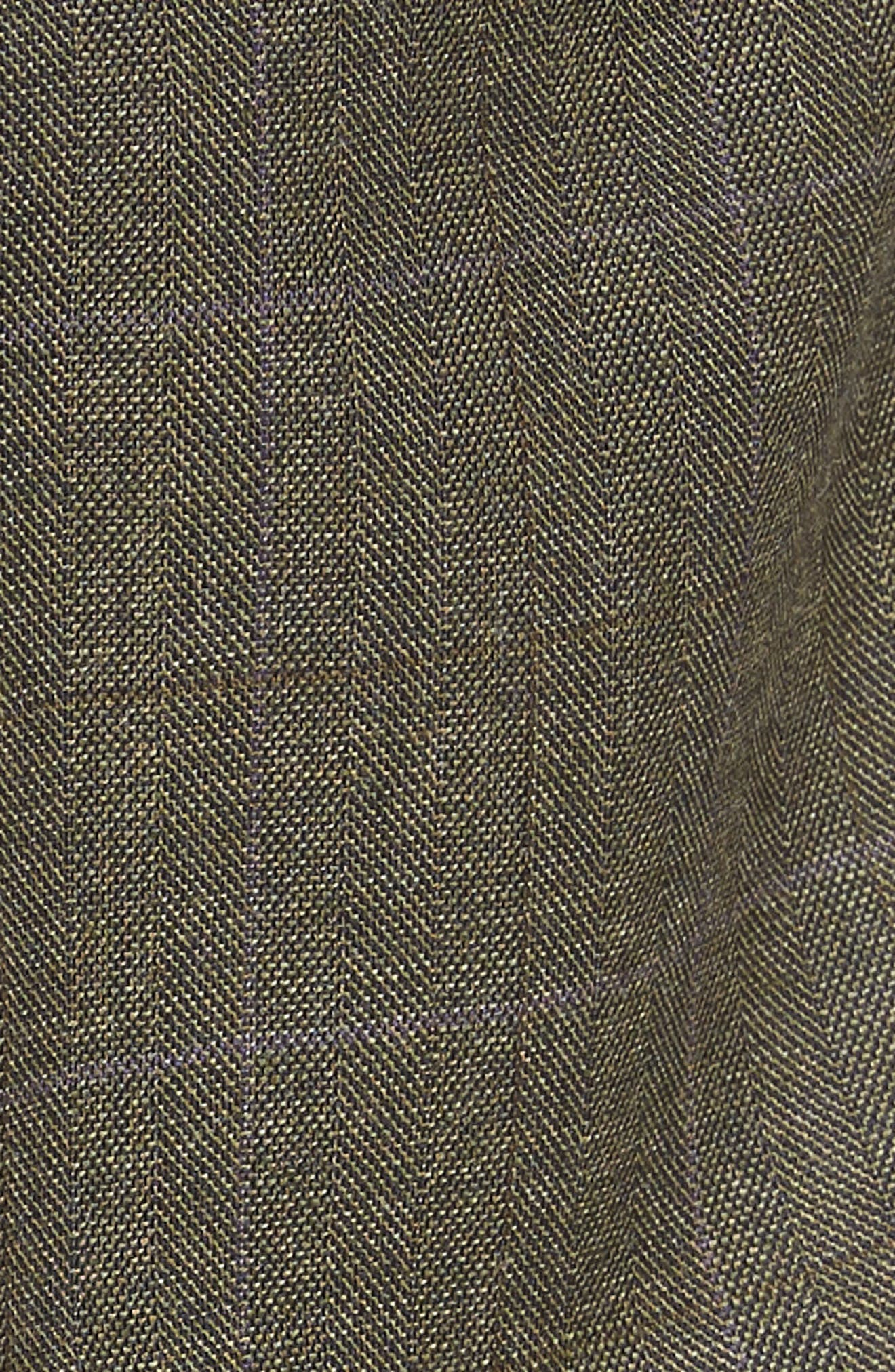 Ludlow Trim Fit Herringbone Wool Pants,                             Alternate thumbnail 5, color,                             300