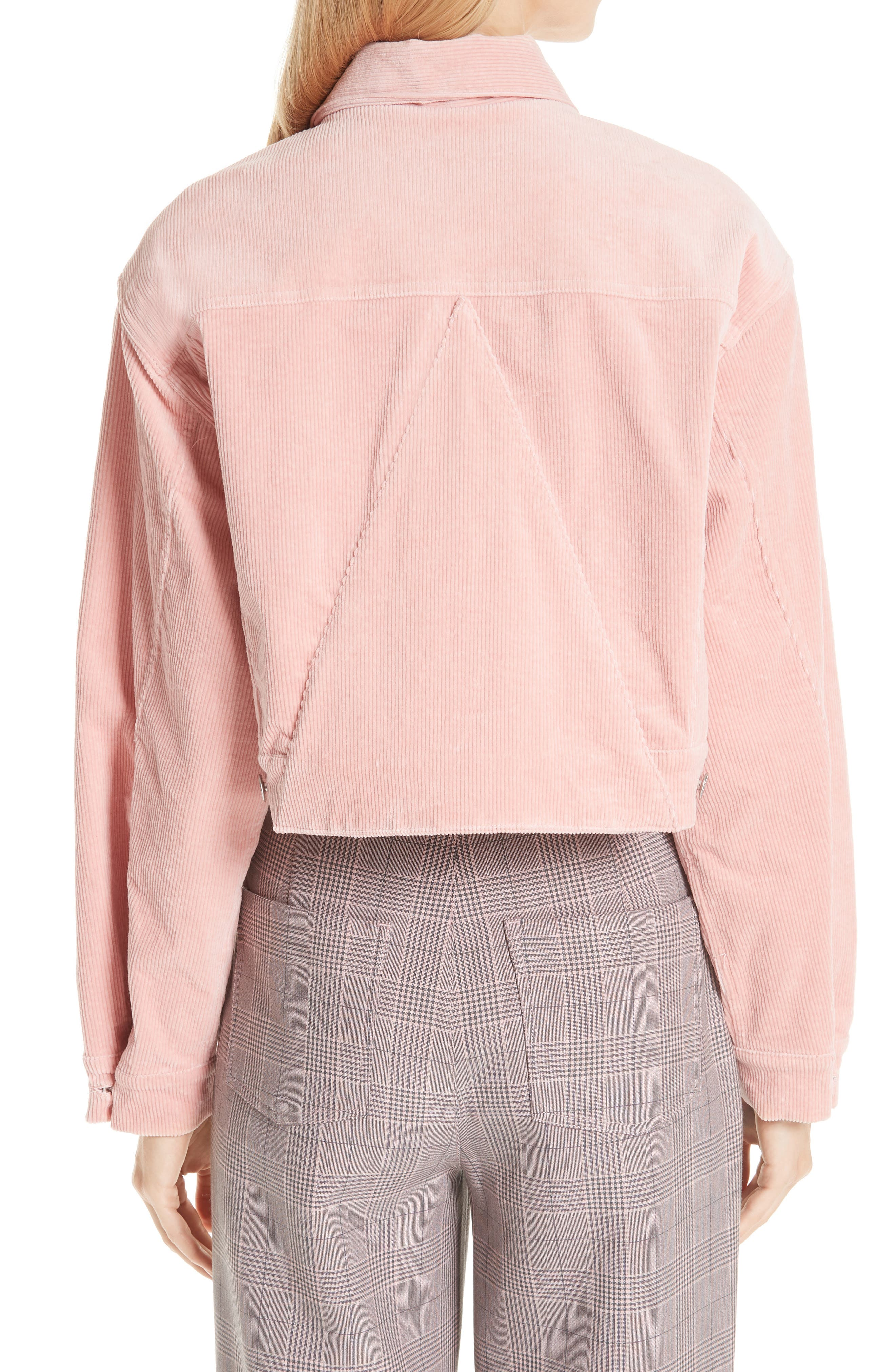 Stretch Corduroy Jacket,                             Alternate thumbnail 2, color,                             SILVER PINK 499
