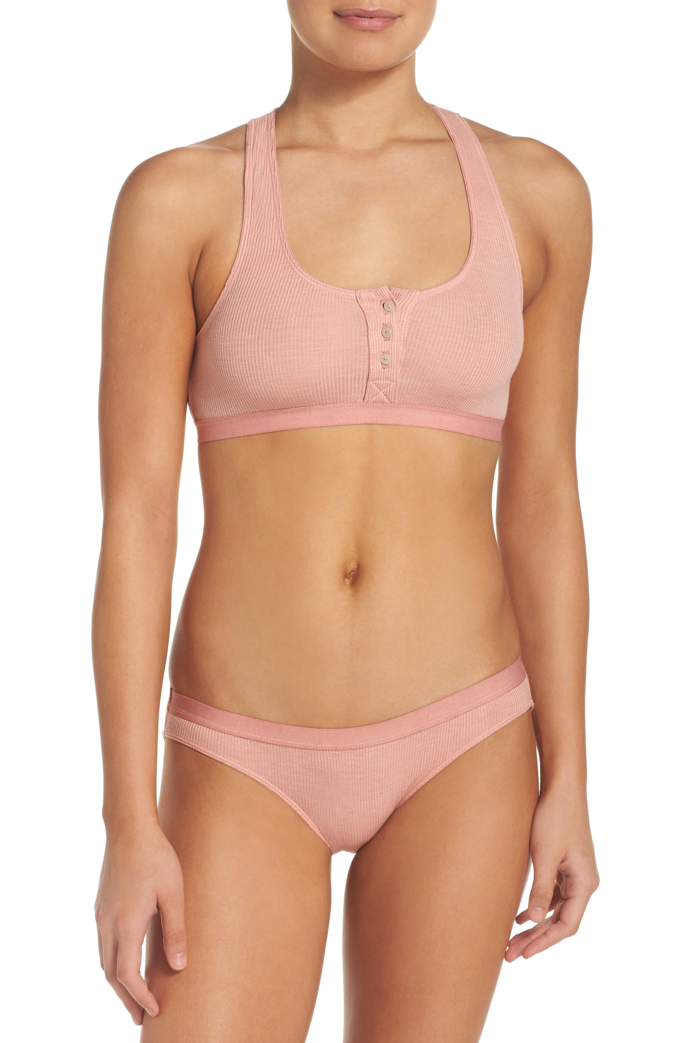 Rib Knit Bikini,                             Alternate thumbnail 15, color,